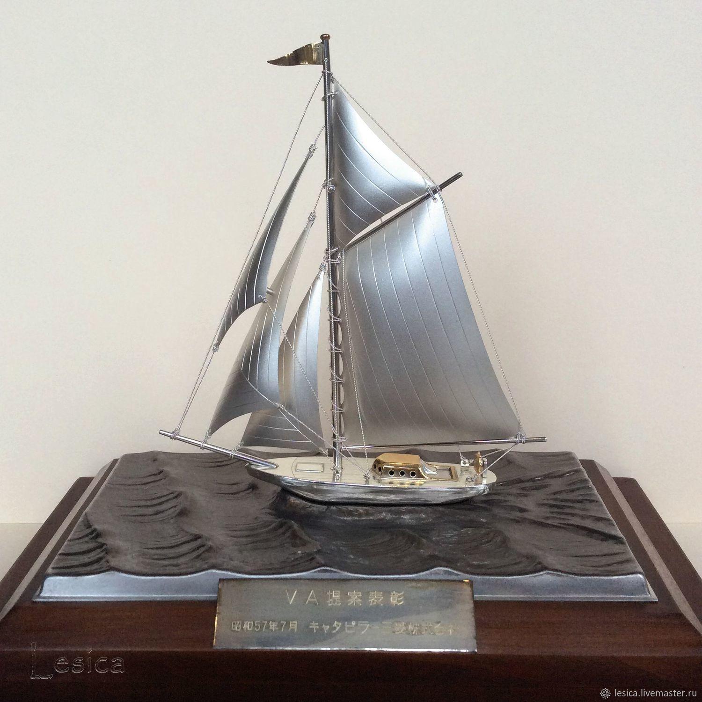 Boat sailboat silver 985 Takehiko Japan – shop online on Livemaster ...