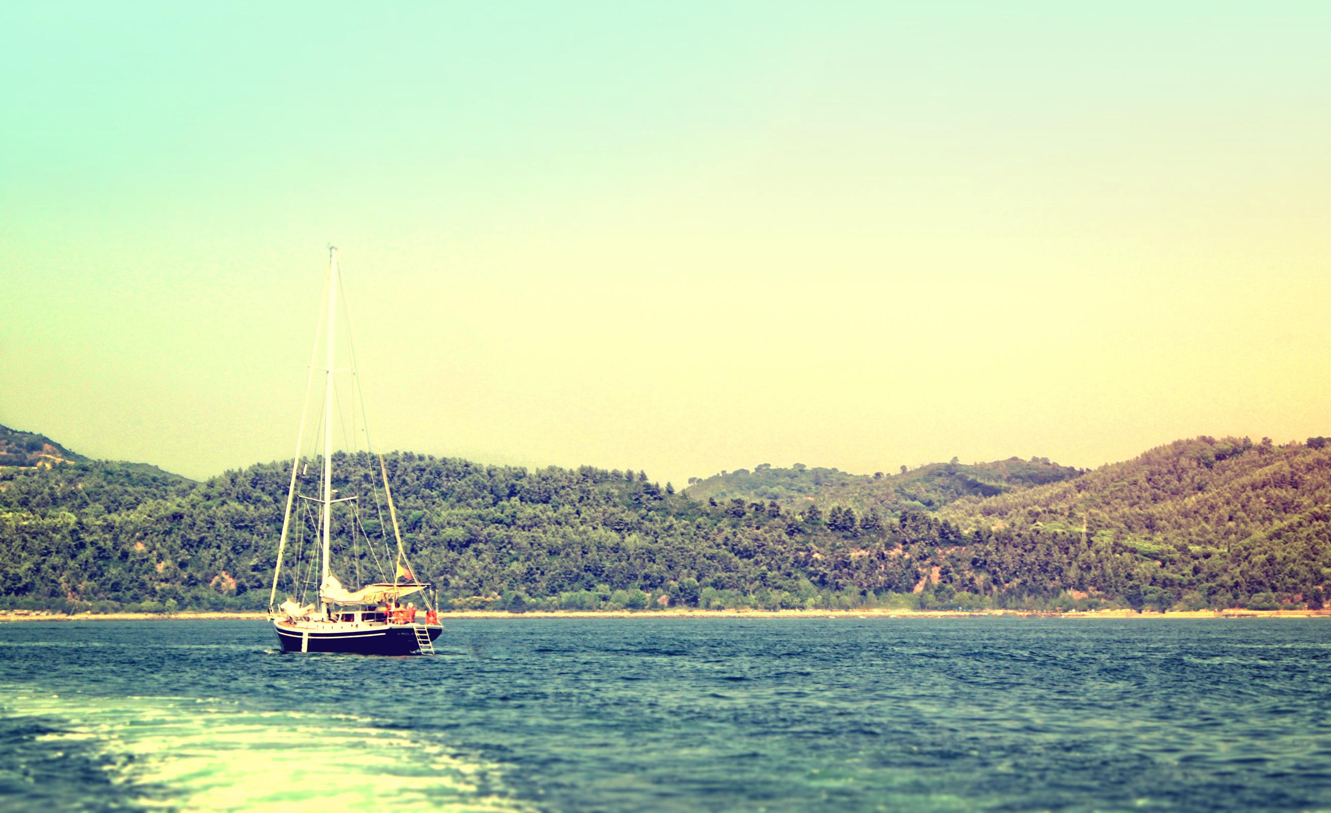 Vintage Sailboat, Aged, Regatta, Sea, Sailer, HQ Photo