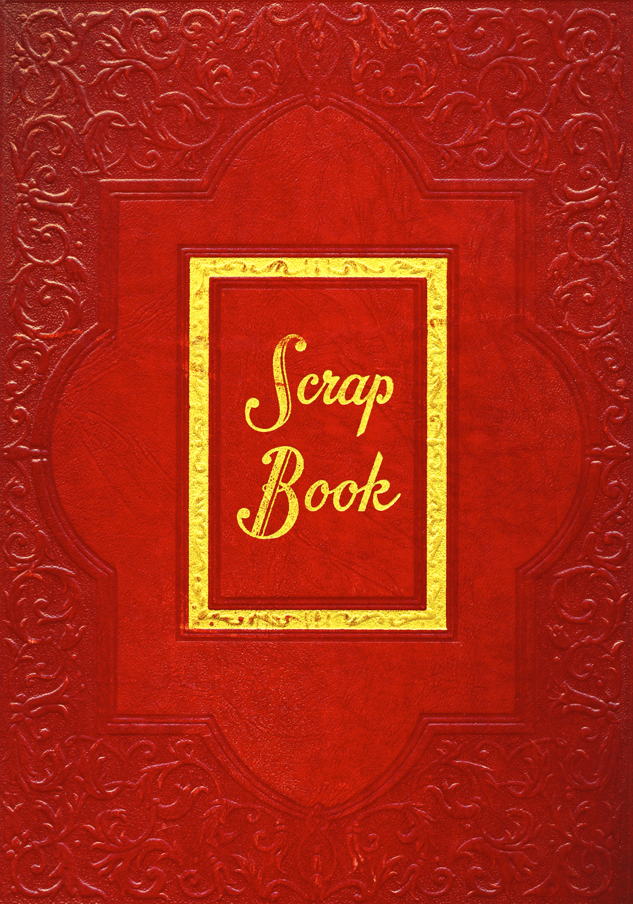 Free Photo Vintage Scrapbook Cover Red Res Red Rectangular