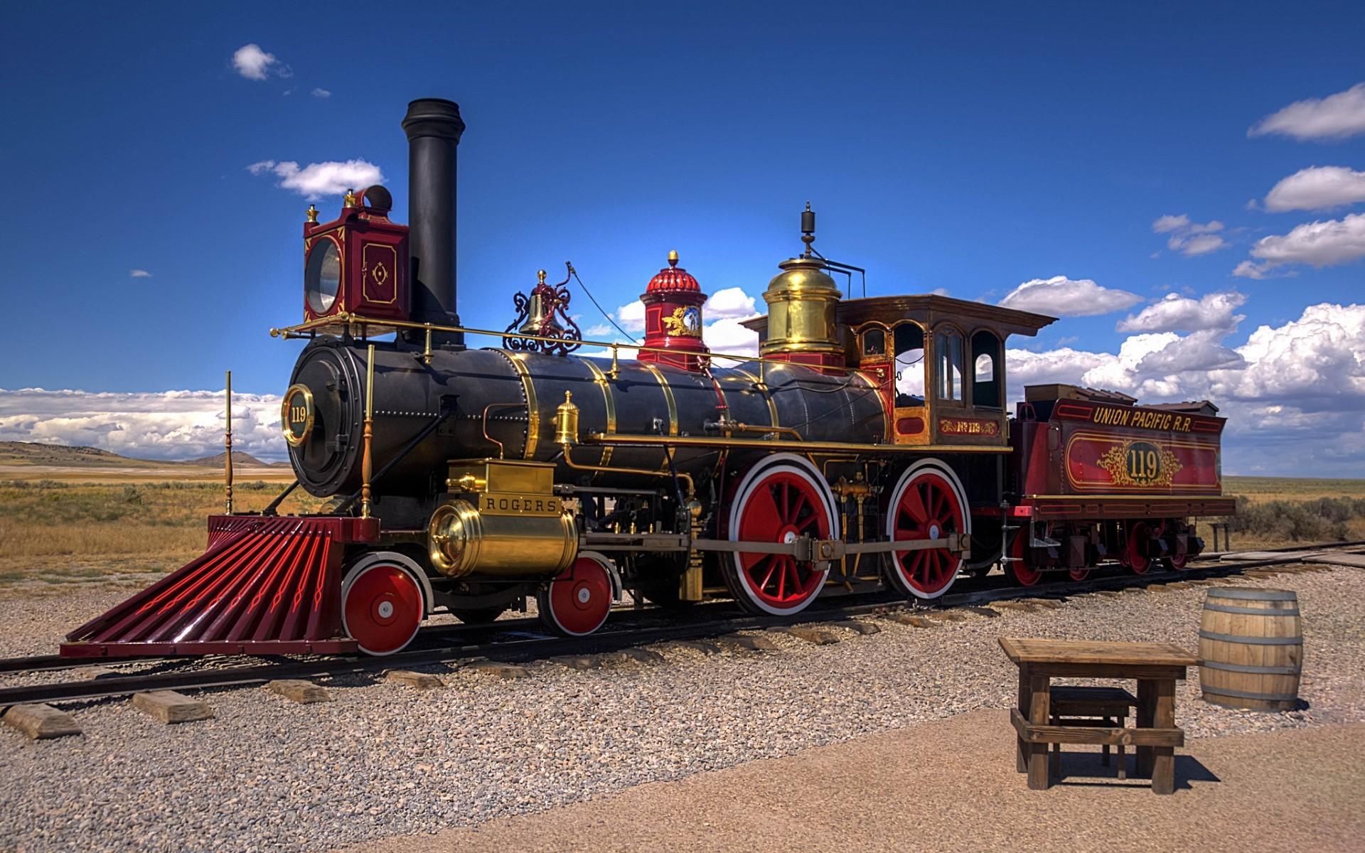 steam Locomotive, Vintage, Train Wallpapers HD / Desktop and Mobile ...