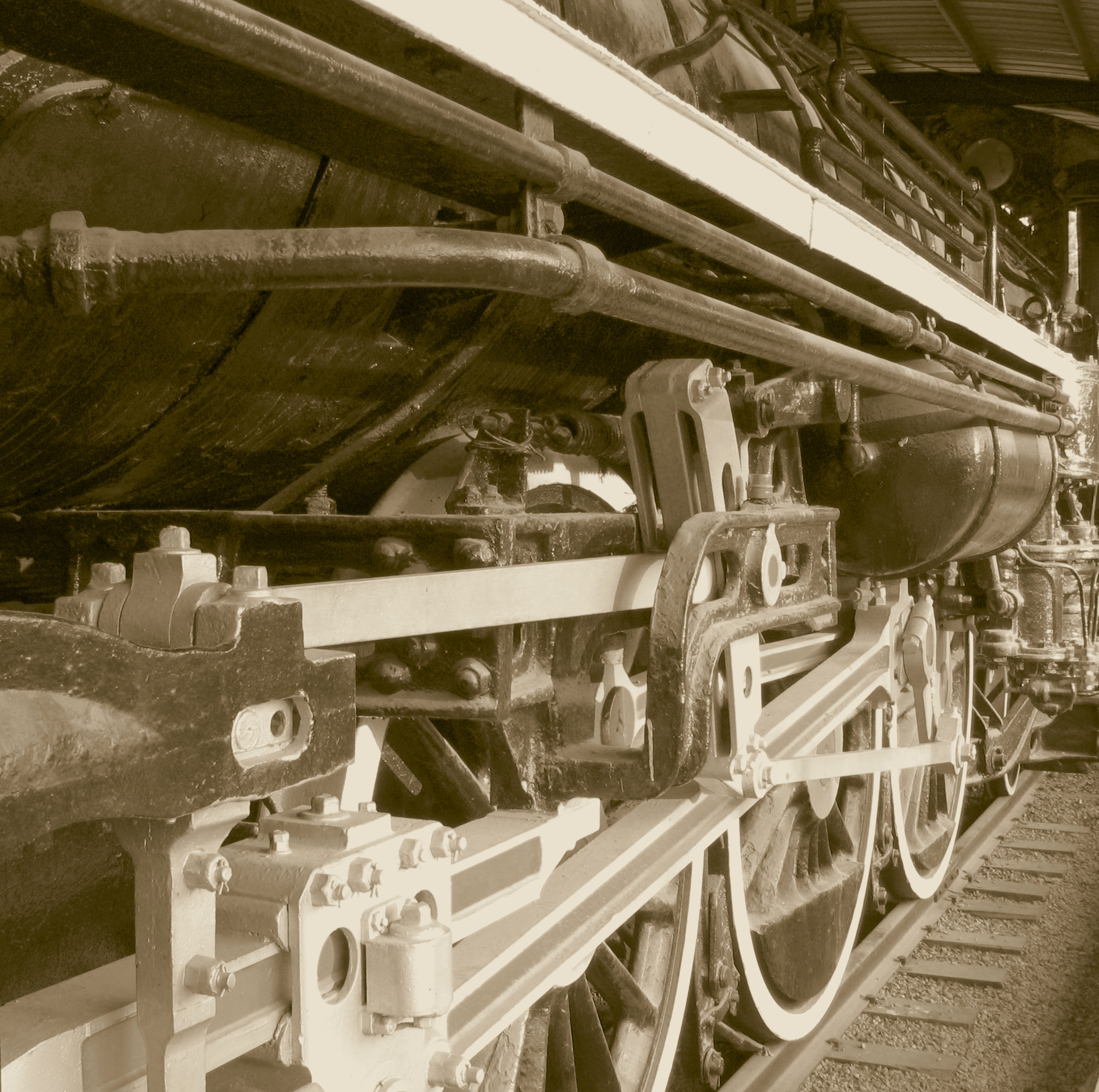 Vintage Steam Locomotive, Boiler, Rail, Vintage, Used, HQ Photo