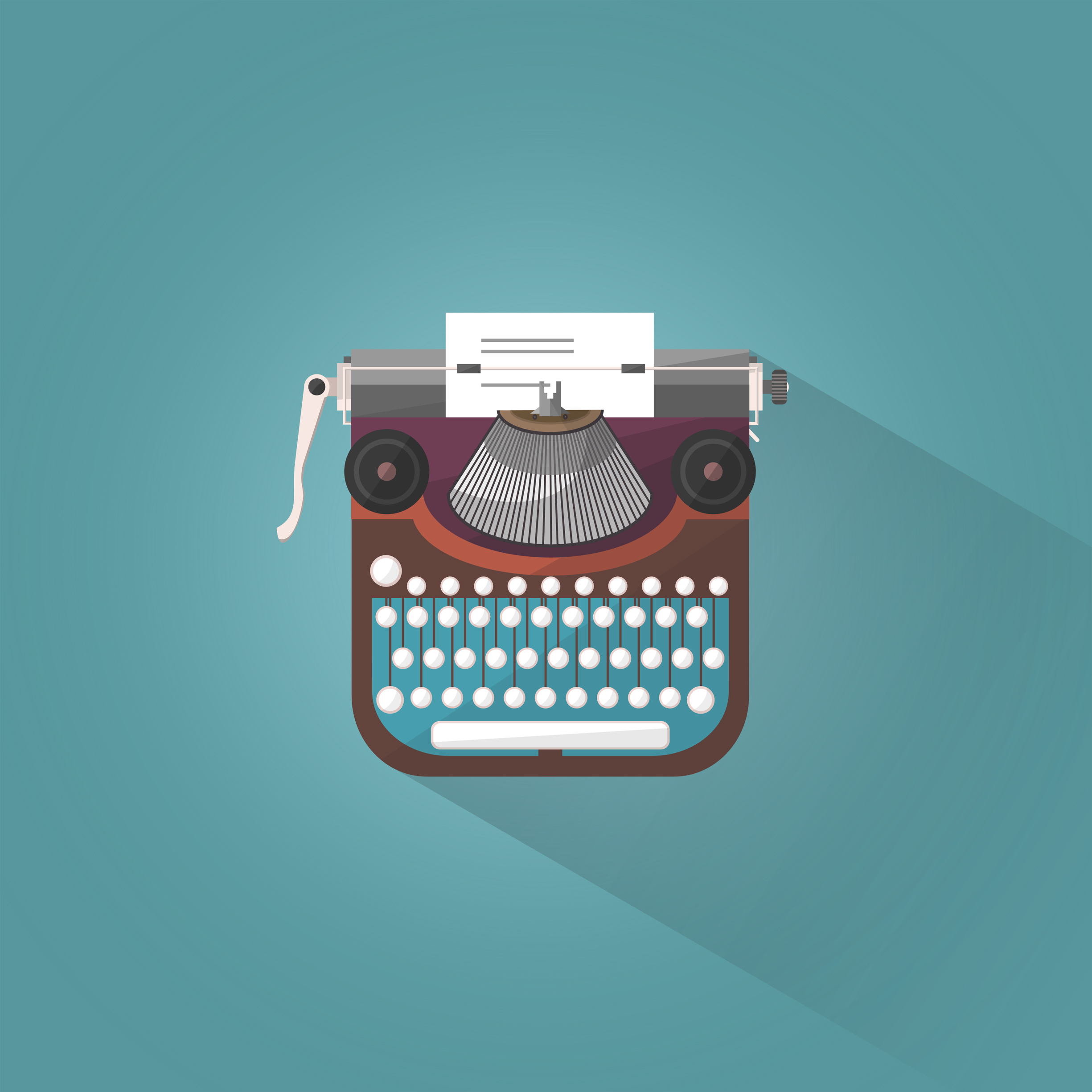 Vintage typewriter - illustration photo