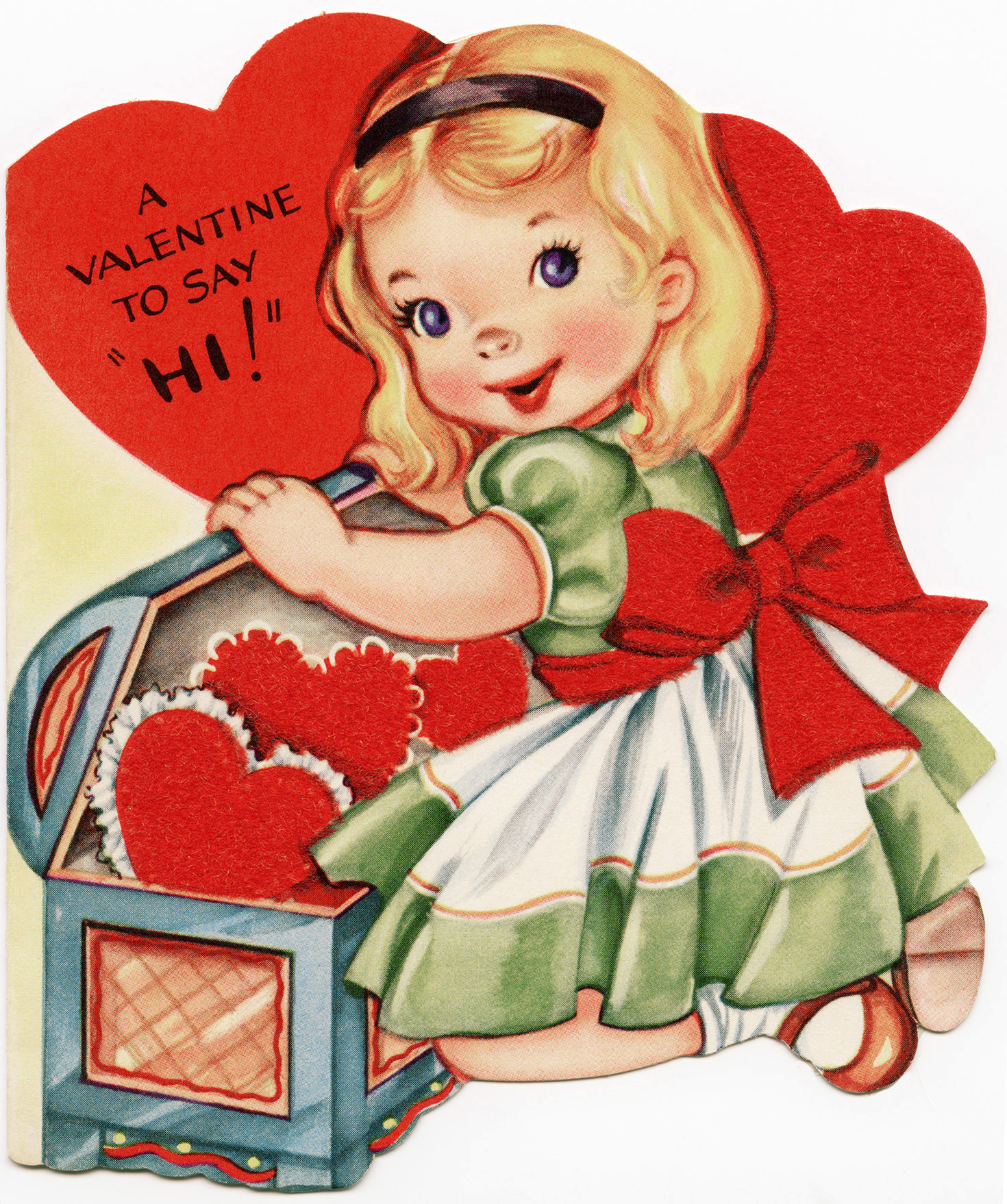 Free Vintage Image A Valentine To Say Hi! | Old Design Shop Blog