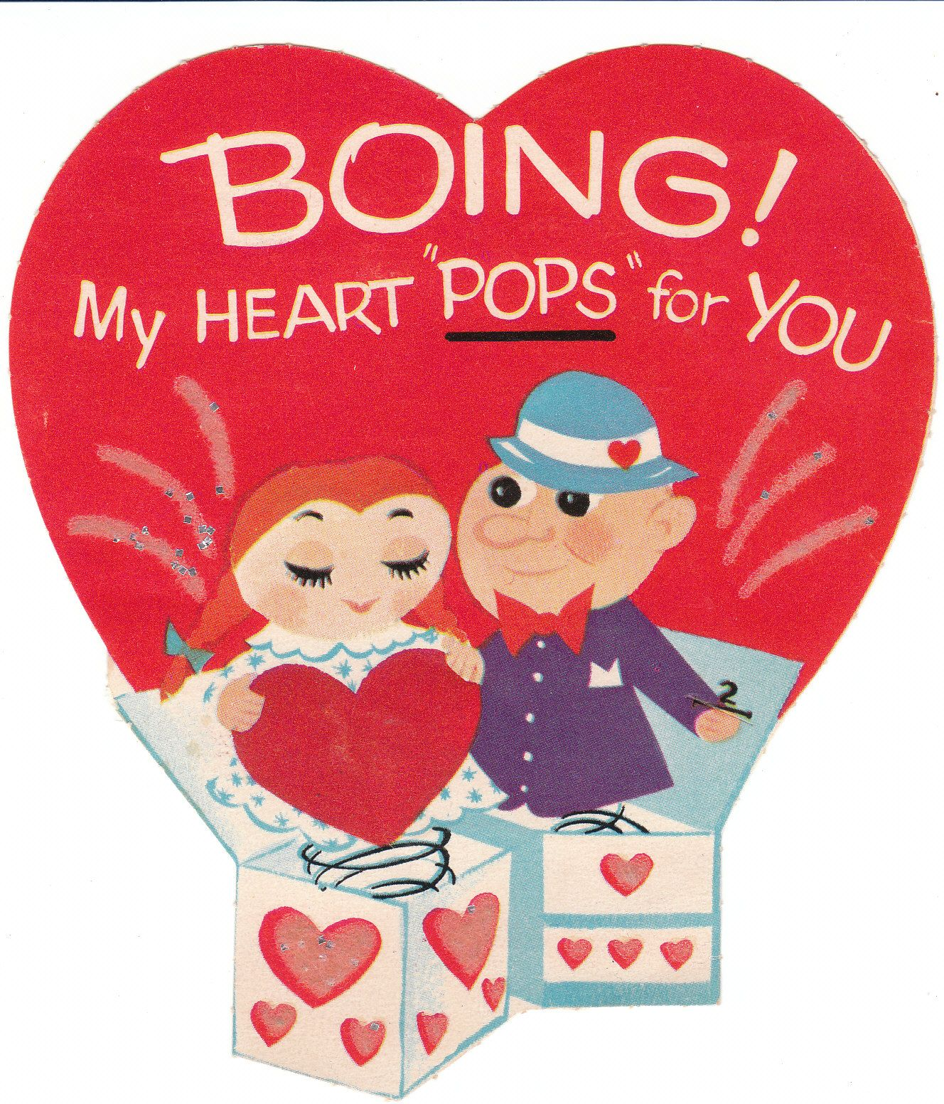 I love these cute die-cut baby boomer vintage Valentine cards for ...