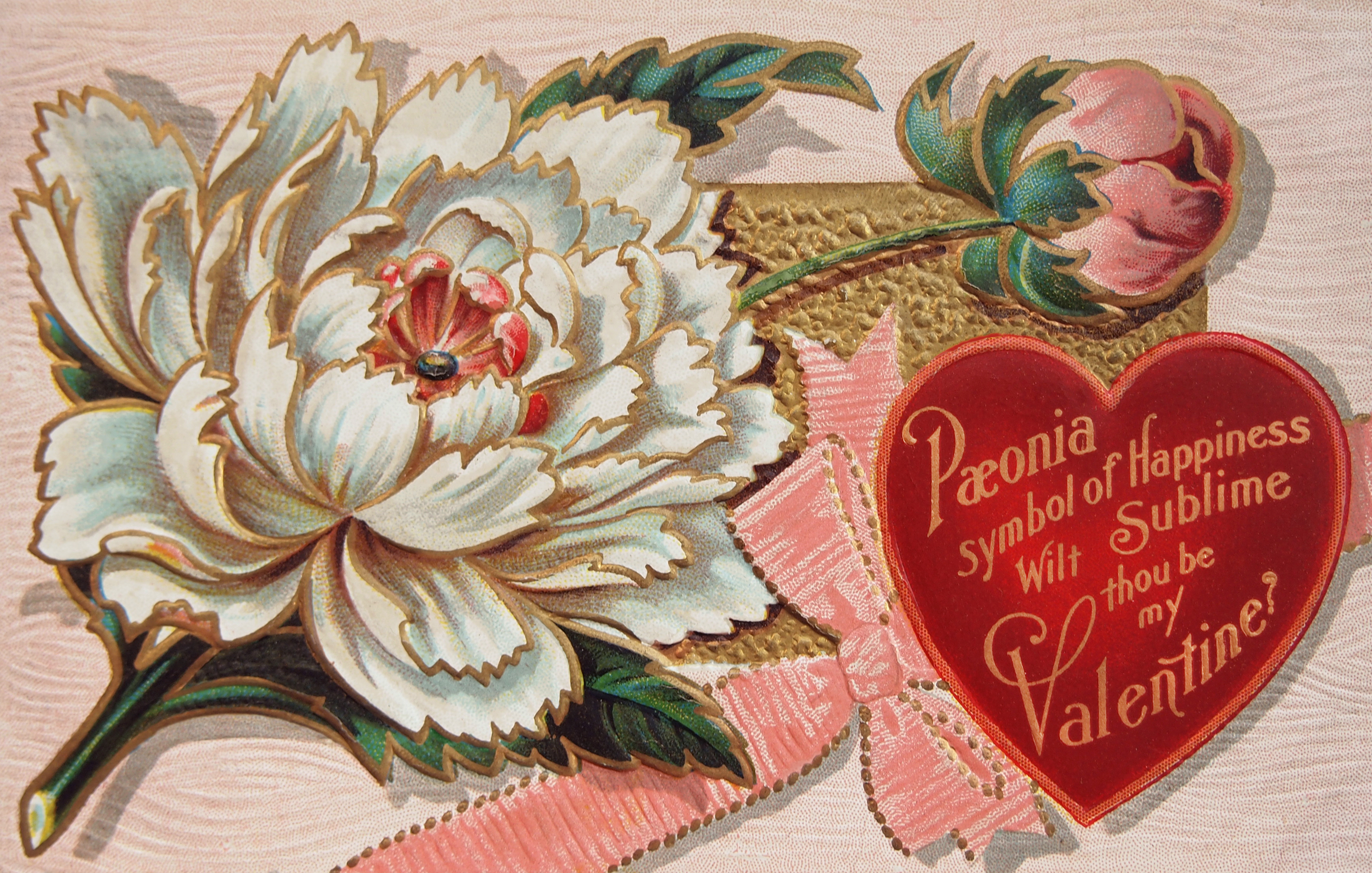 Free High Resolution Vintage Victorian Valentine's Day Postcard ...