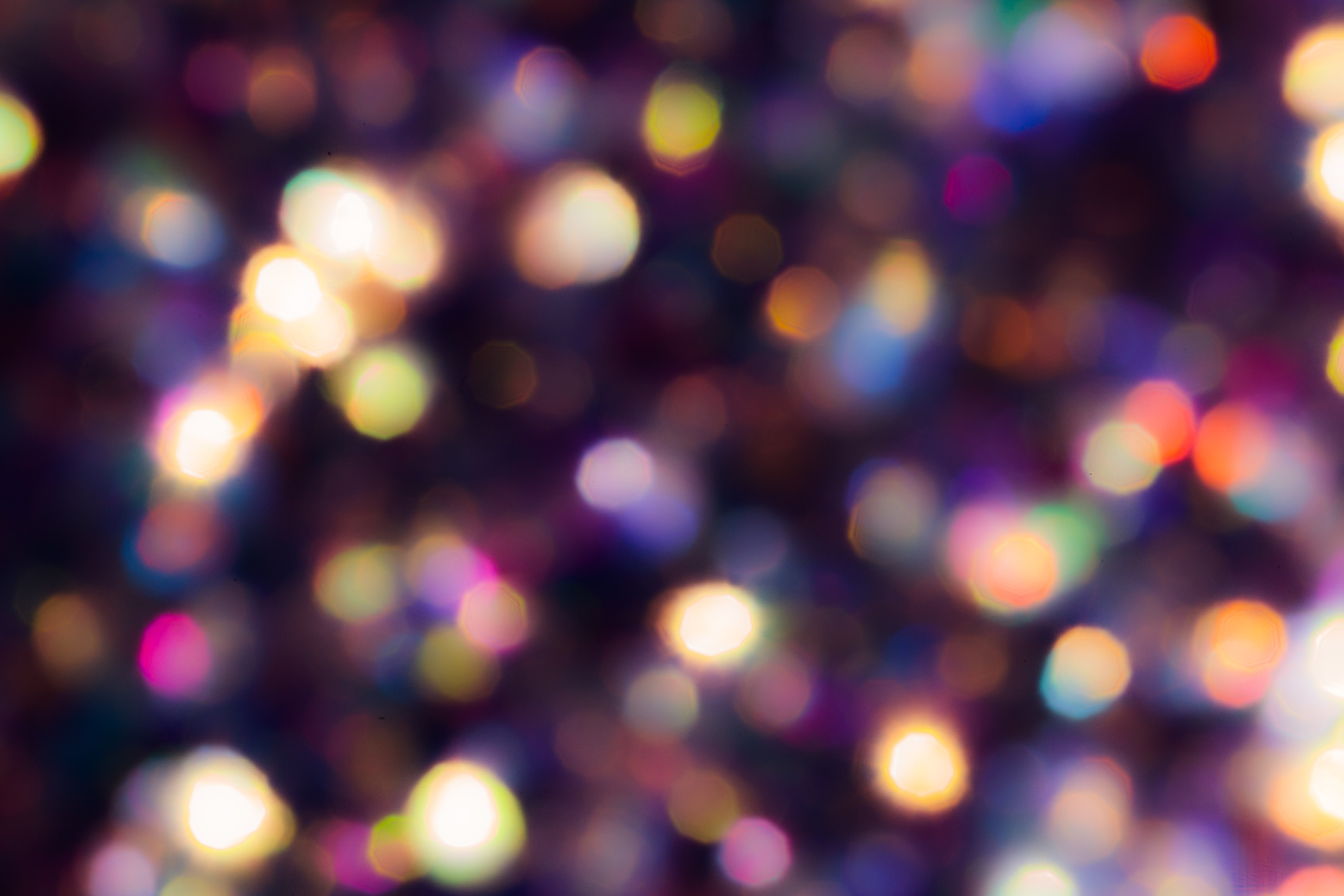 Midnight Purple Rainbow Bokeh ~ Abstract Photos ~ Creative Market