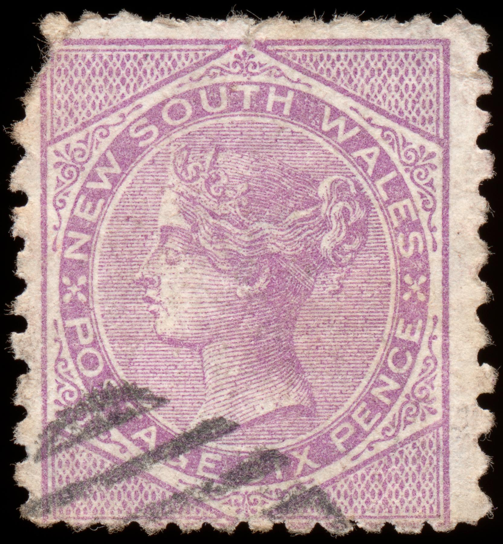 Violet queen victoria stamp photo