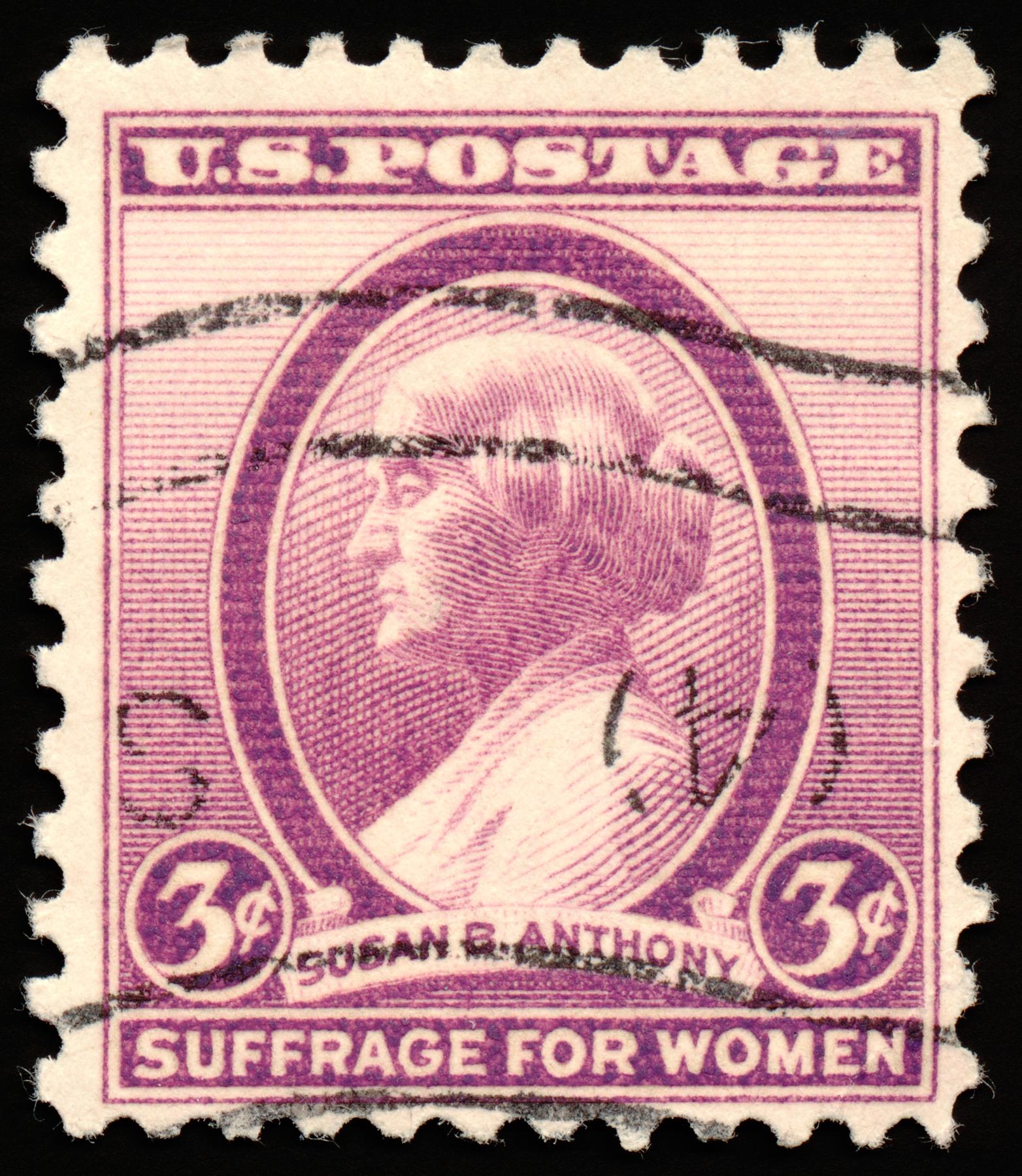 Violet susan b. anthony stamp photo