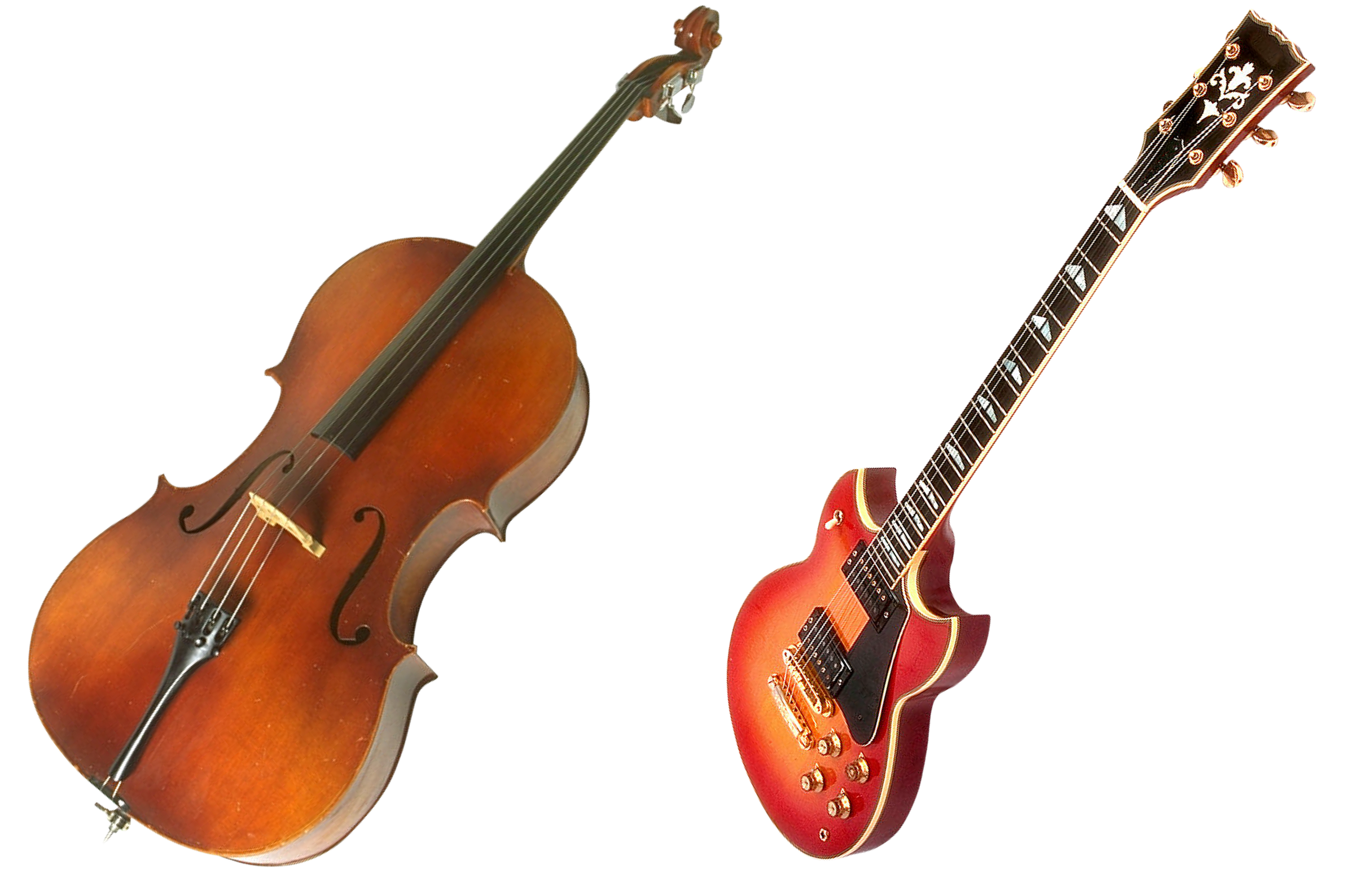 Violin and Guitar, Guitar, Instrument, Music, Musical, HQ Photo