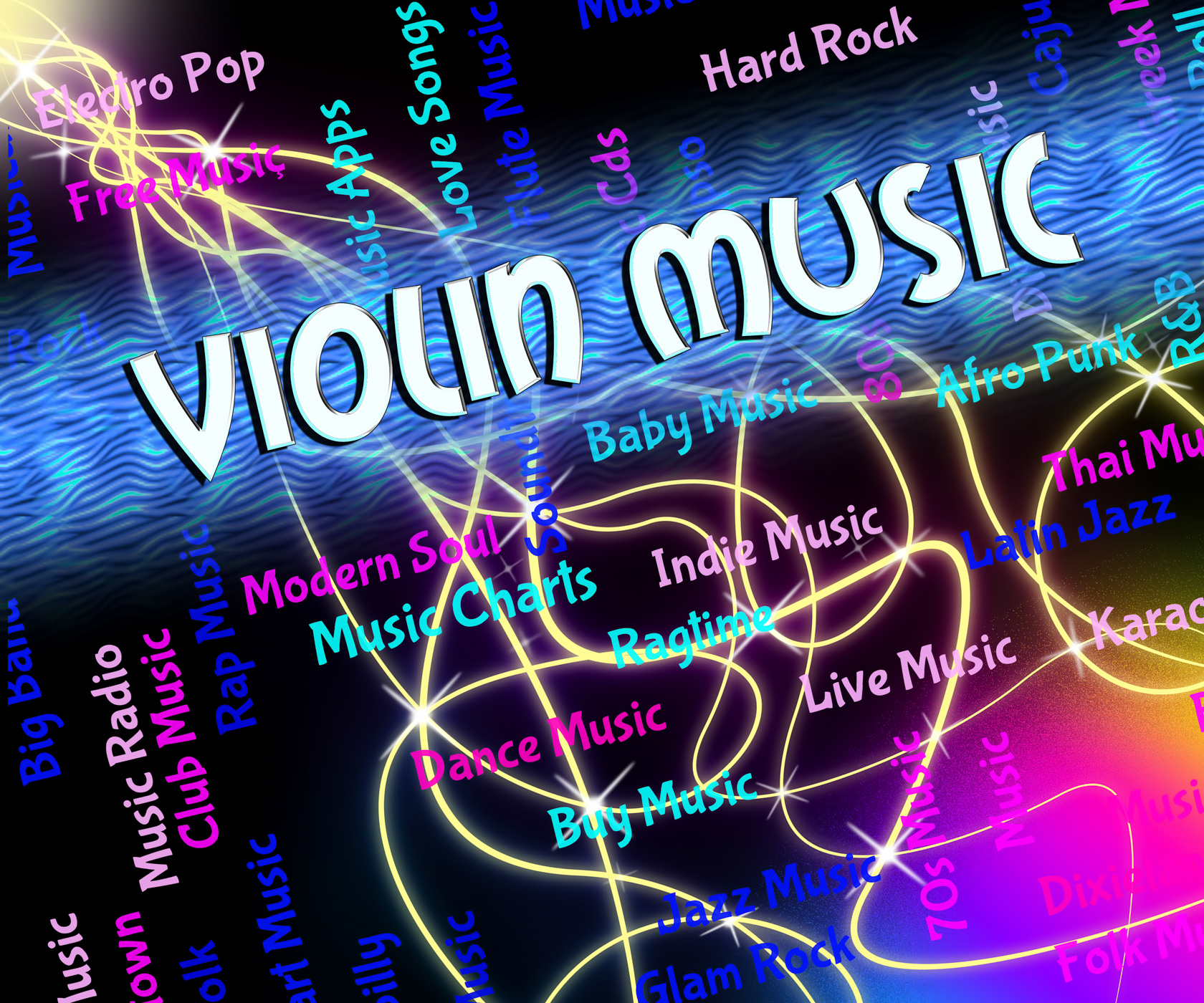 Violin music means sound track and audio photo