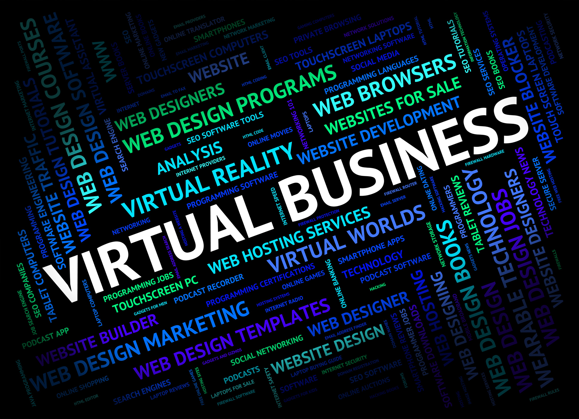 Virtual business shows contract out and businesses photo