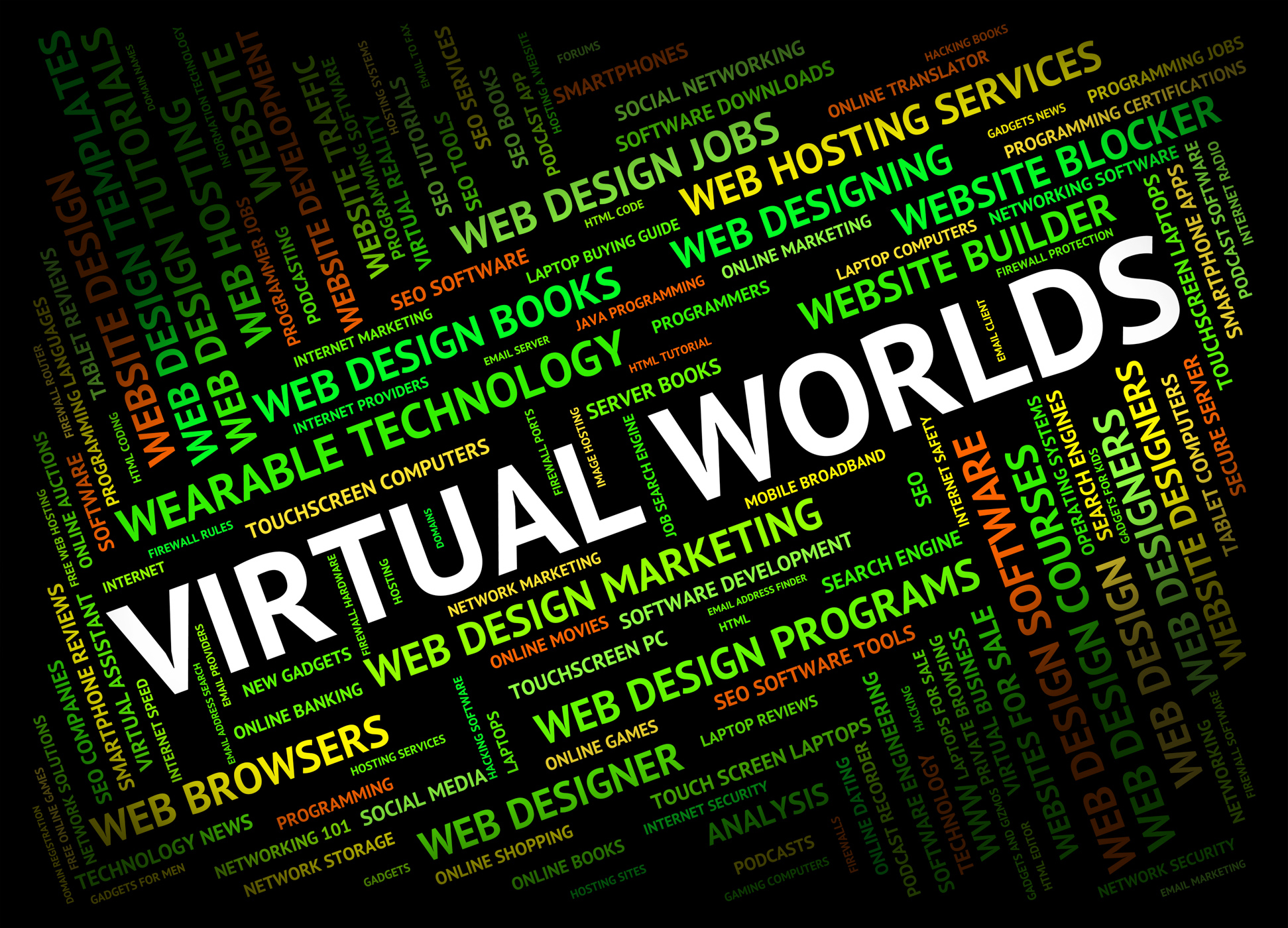 Virtual worlds indicates independent contractor and freelance photo