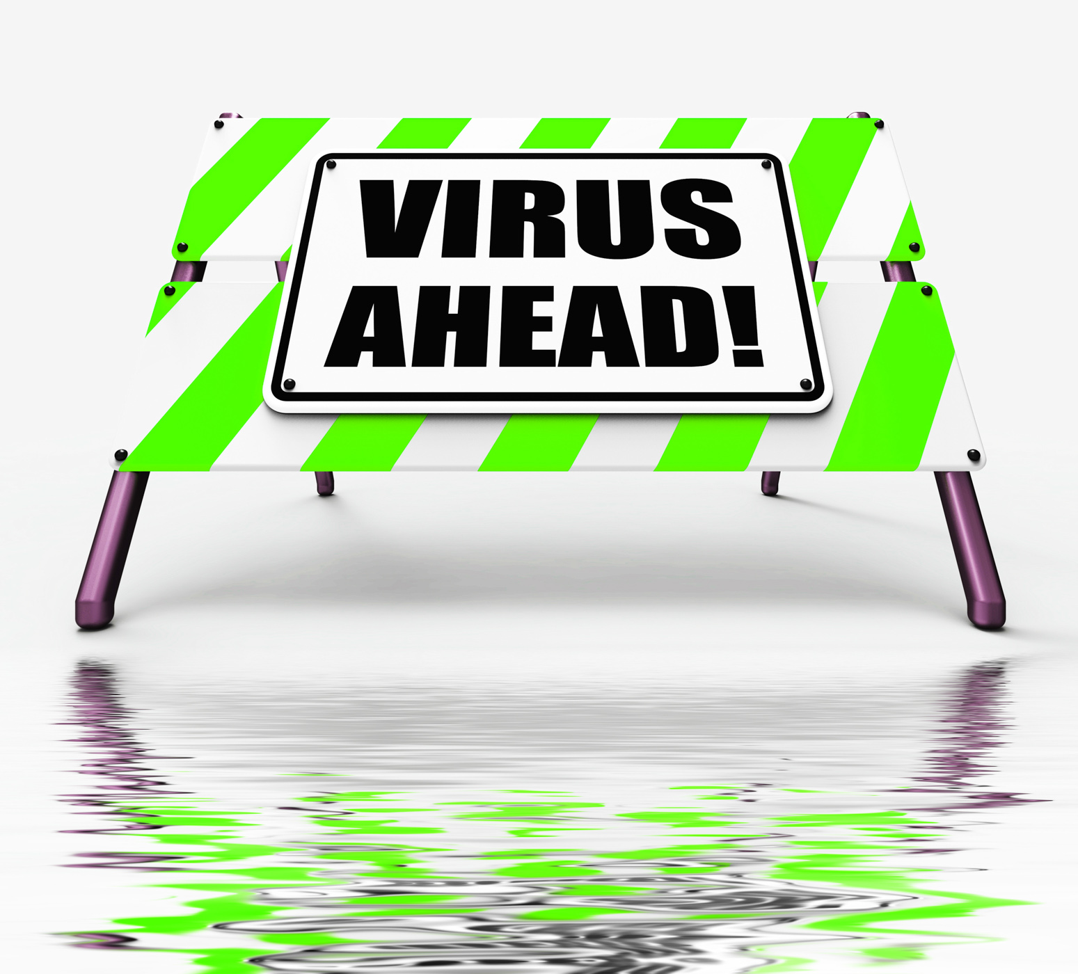 Virus ahead displays viruses and future malicious damage photo