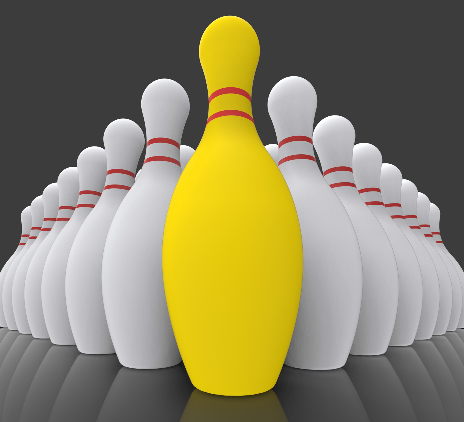 Vision bowling skittles showing achieving photo