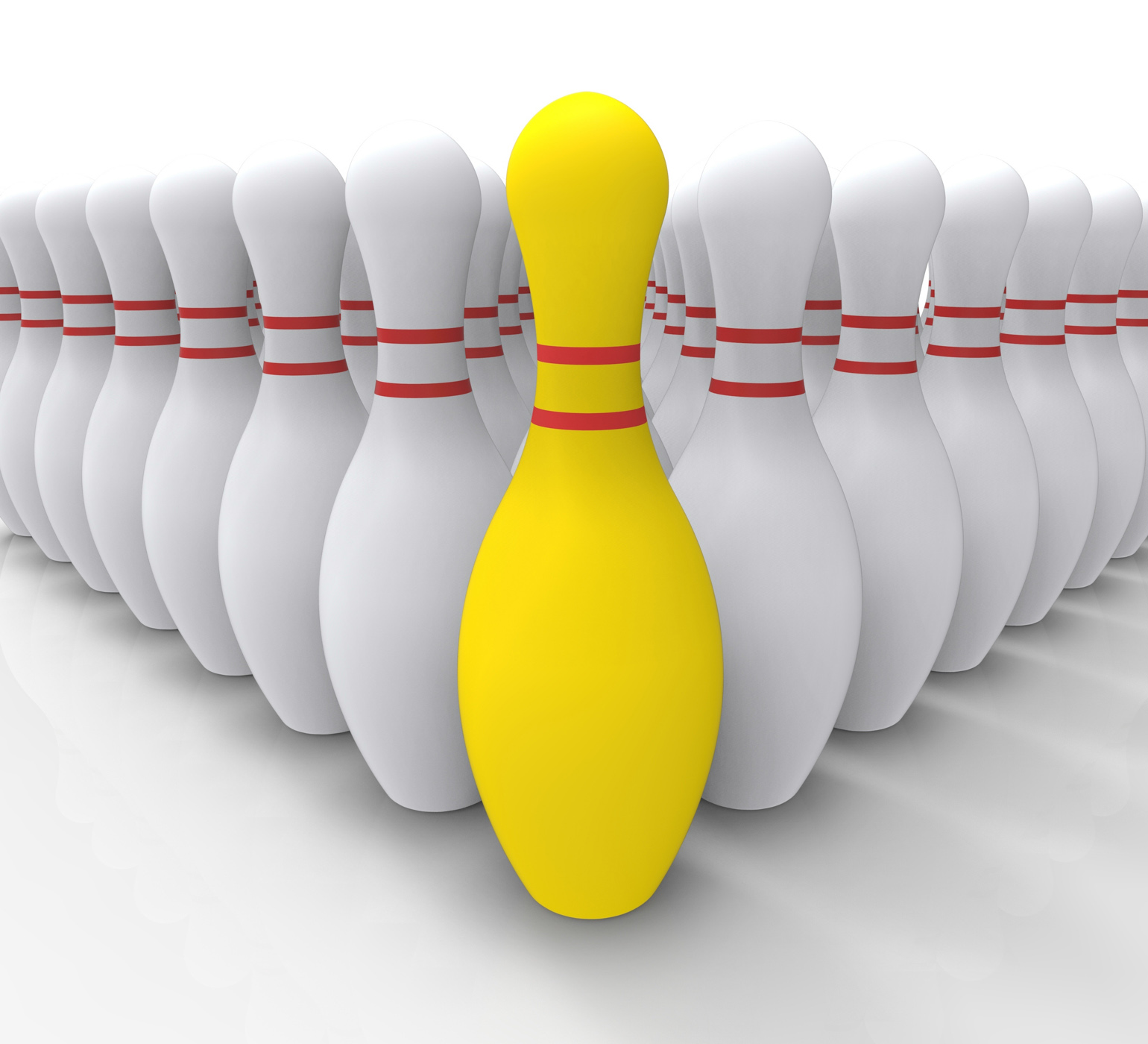 Vision bowling skittles shows achieving photo