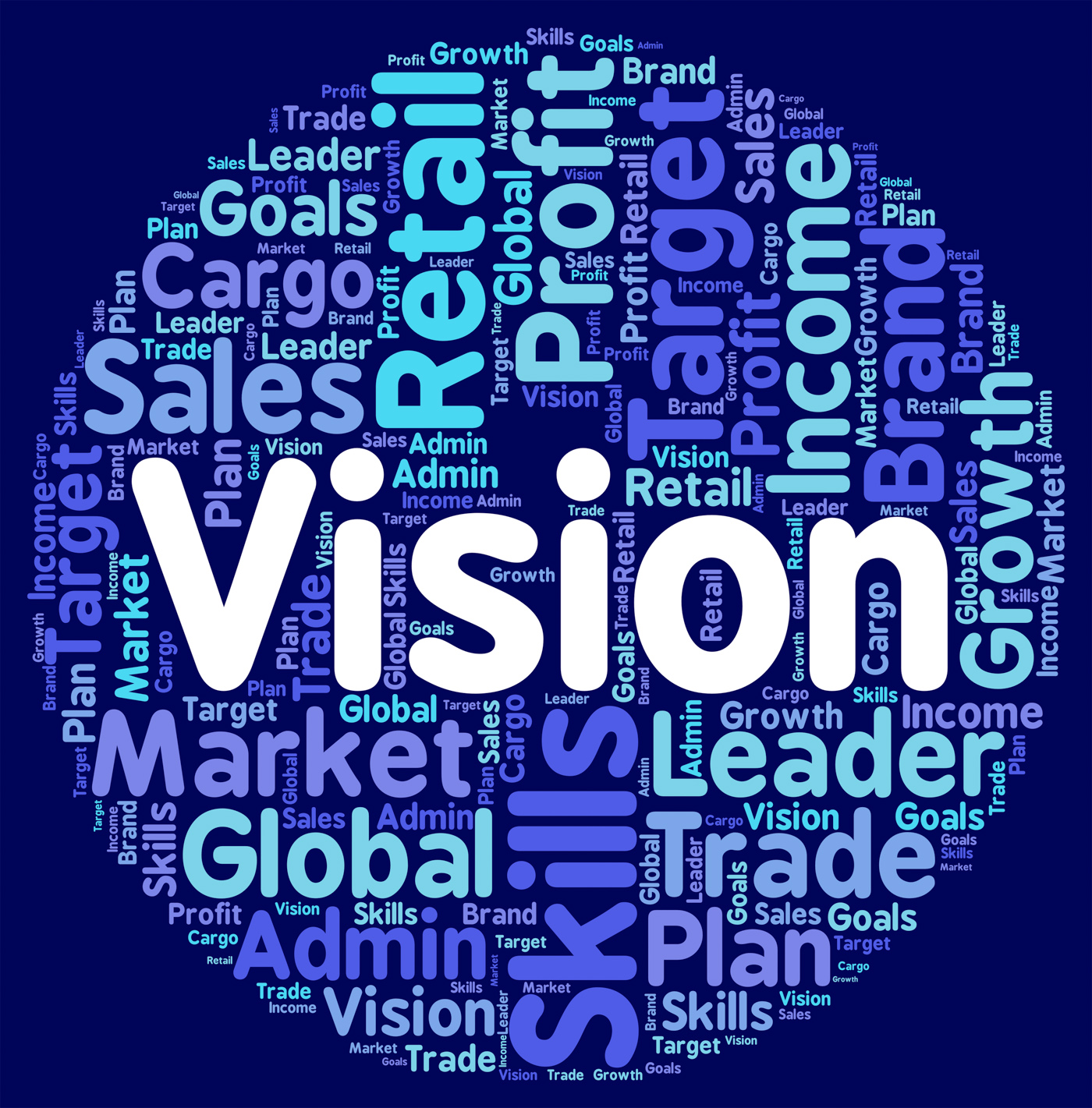 Vision word represents plan text and predictions photo