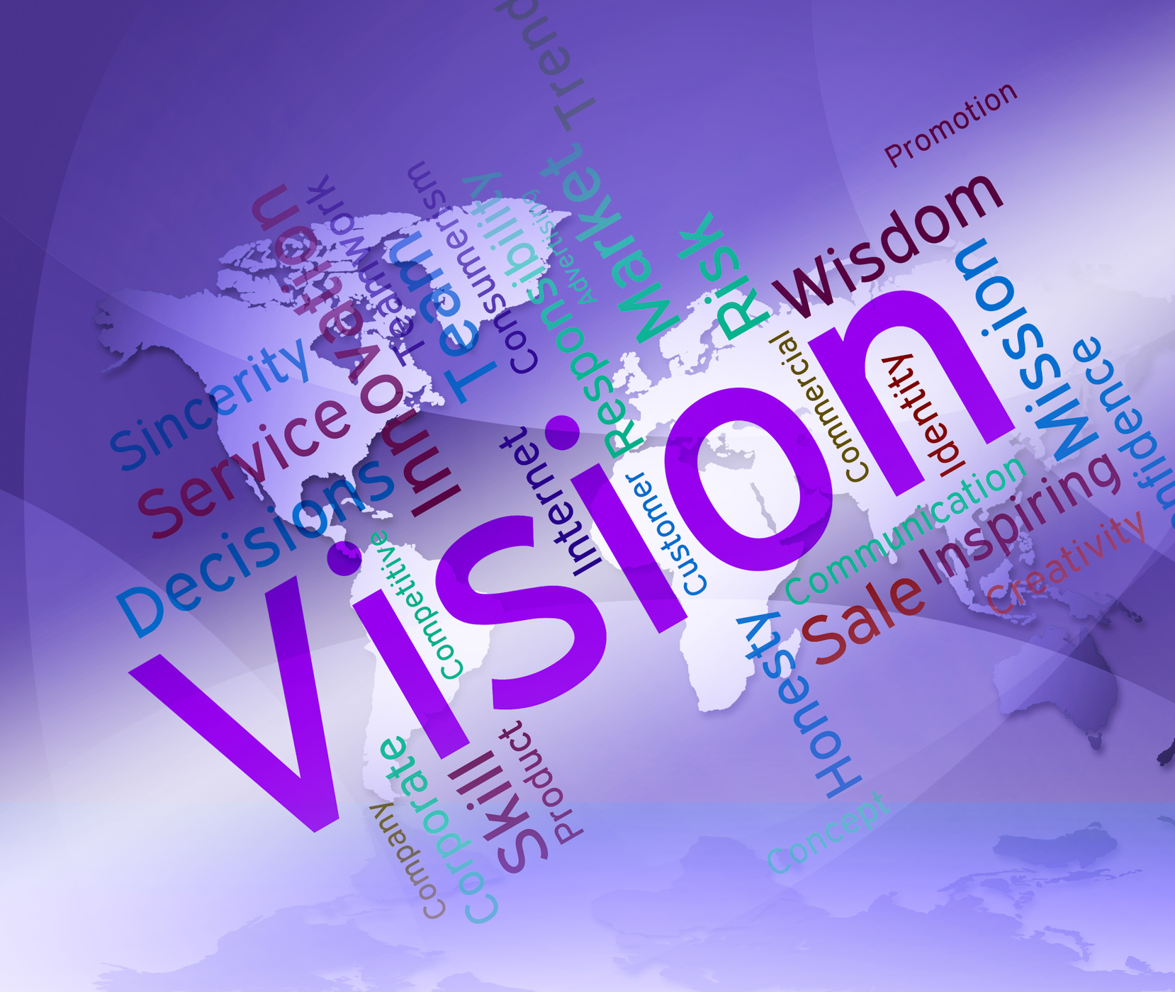 Vision Word Represents Plans Future And Aim, Aim, Planning, Wordcloud, Word, HQ Photo