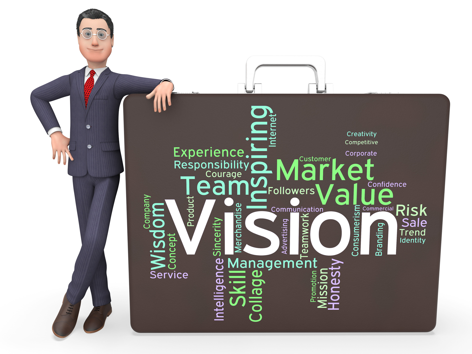 Vision word shows aim objectives and aspirations photo
