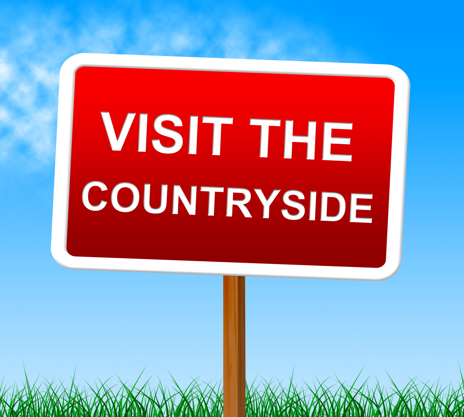 Visit The Countryside Shows Scene Natural And Outdoor, Advertisement, Natural, Sign, Scene, HQ Photo