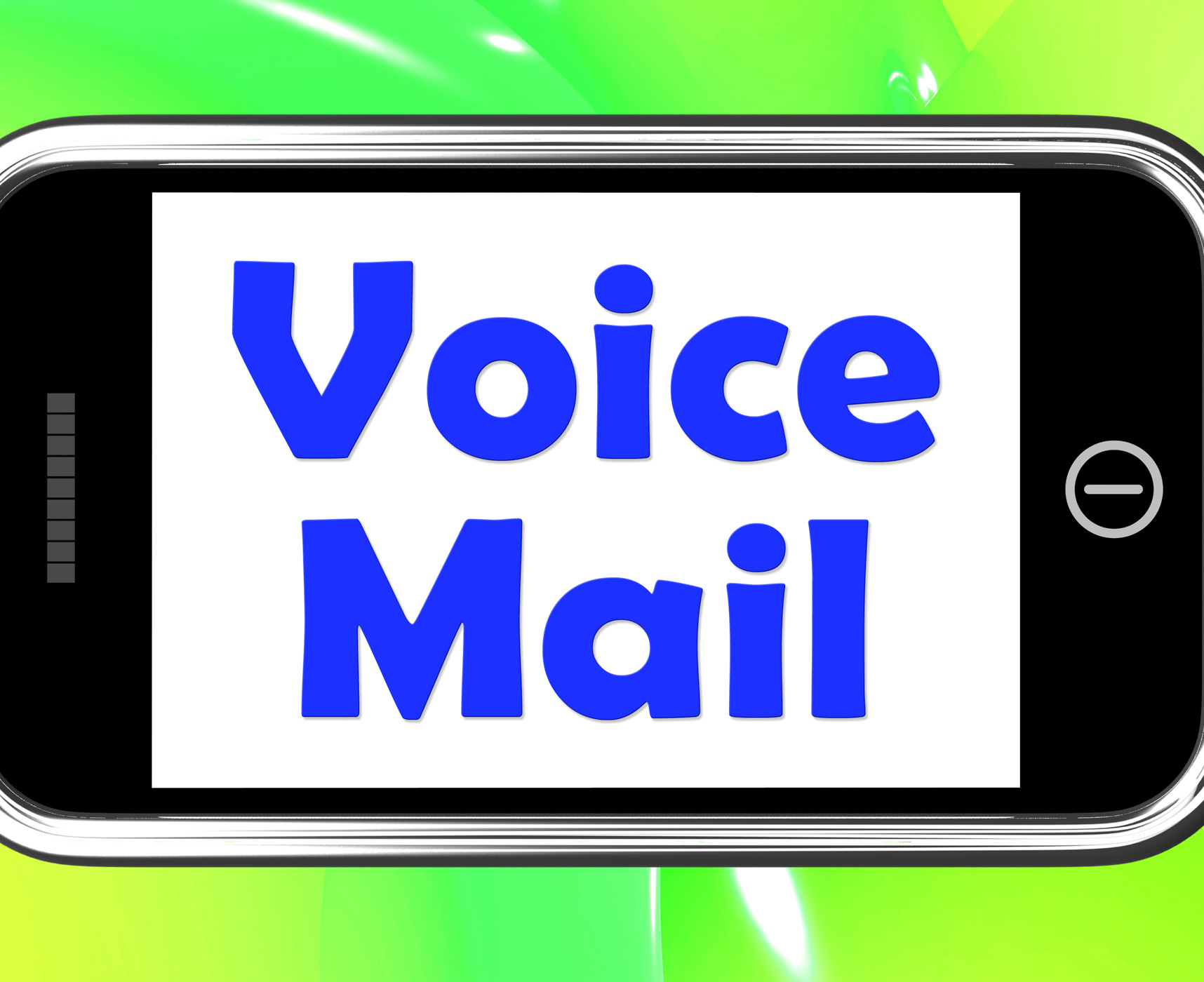 Voice mail on phone shows talk to leave message photo