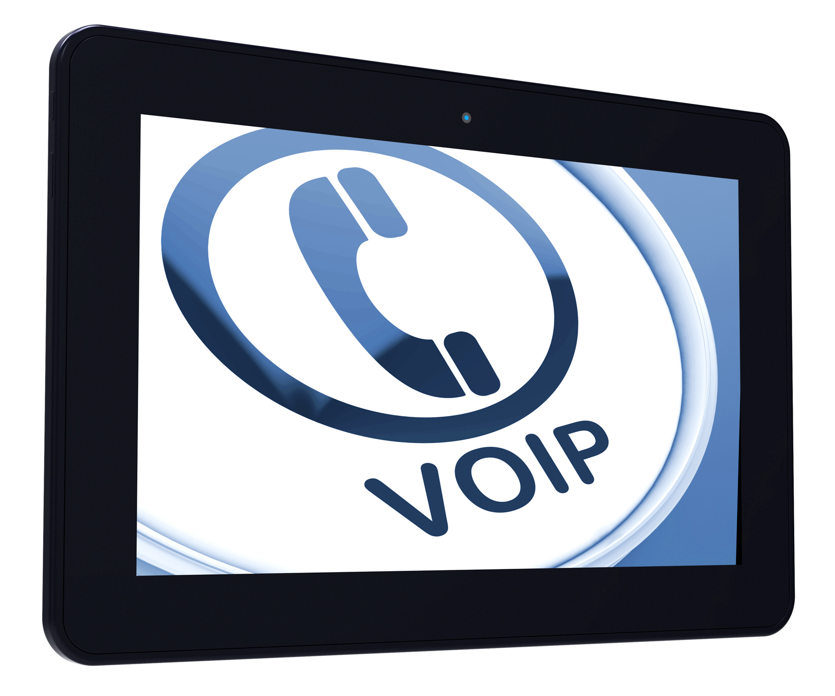 Voip tablet means voice over internet protocol or broadband telephony photo