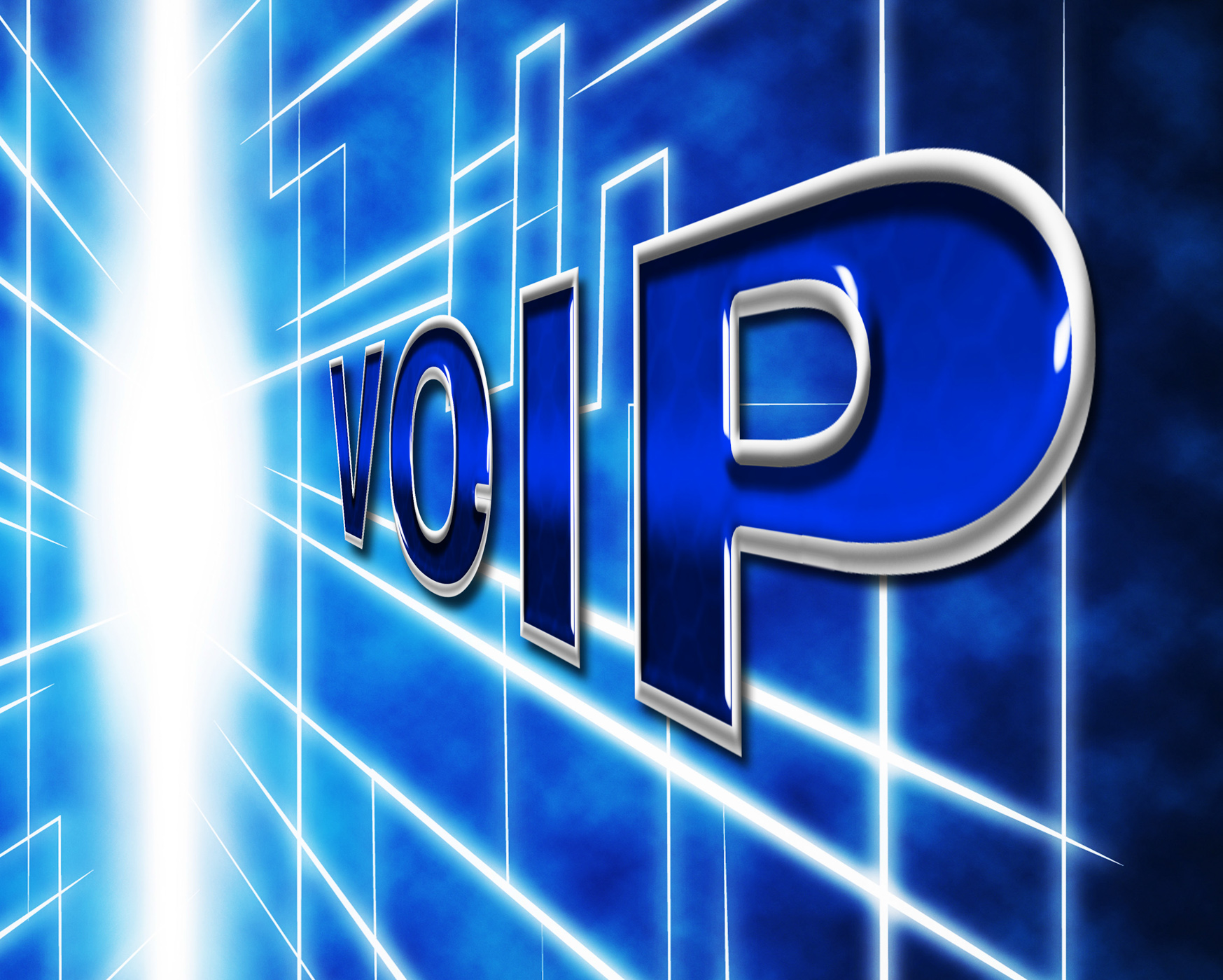 Voip telephony indicates voice over broadband and protocol photo