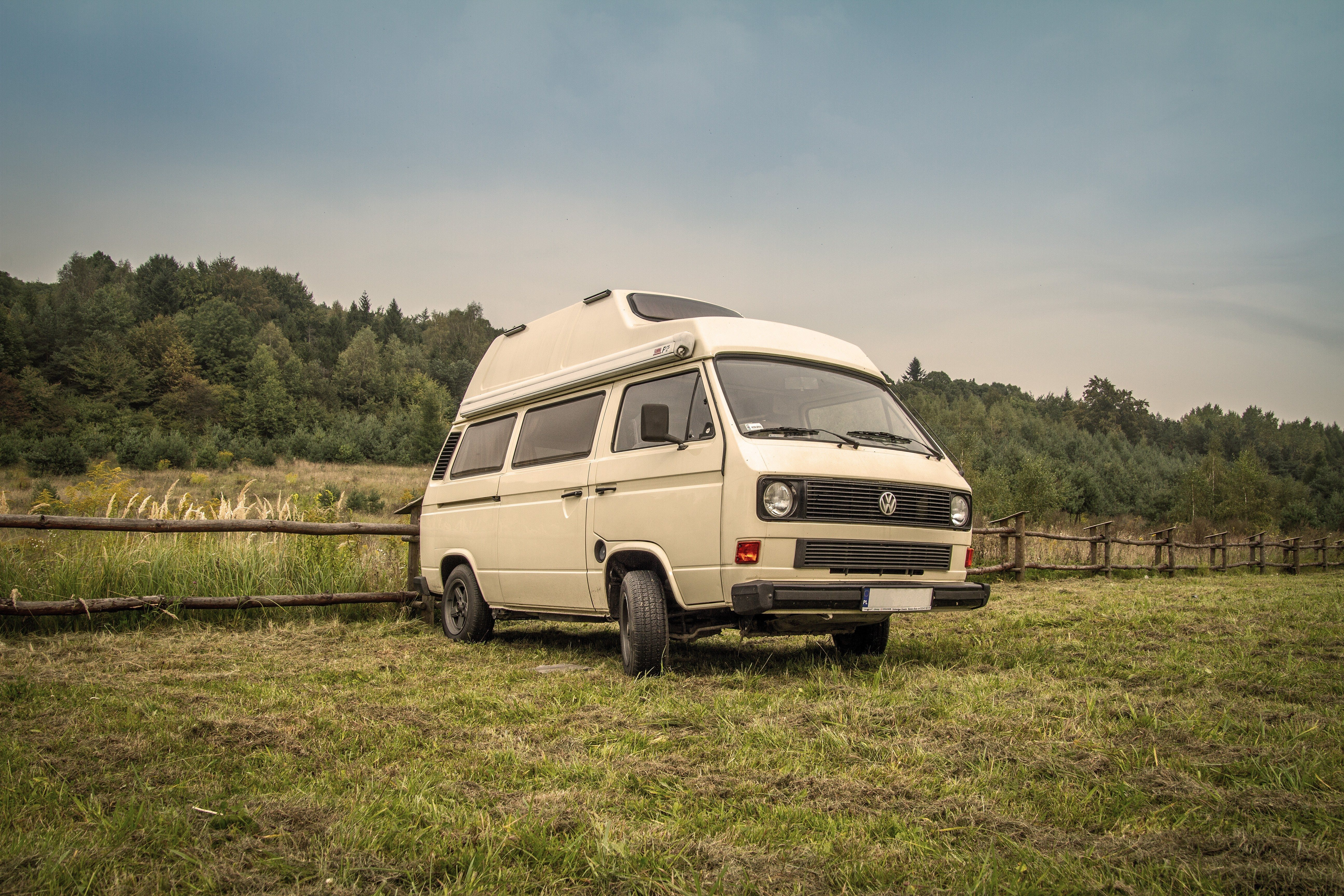 Volkswagen T3 Camper, Automobiles, Campers, Camping, Campsite, HQ Photo