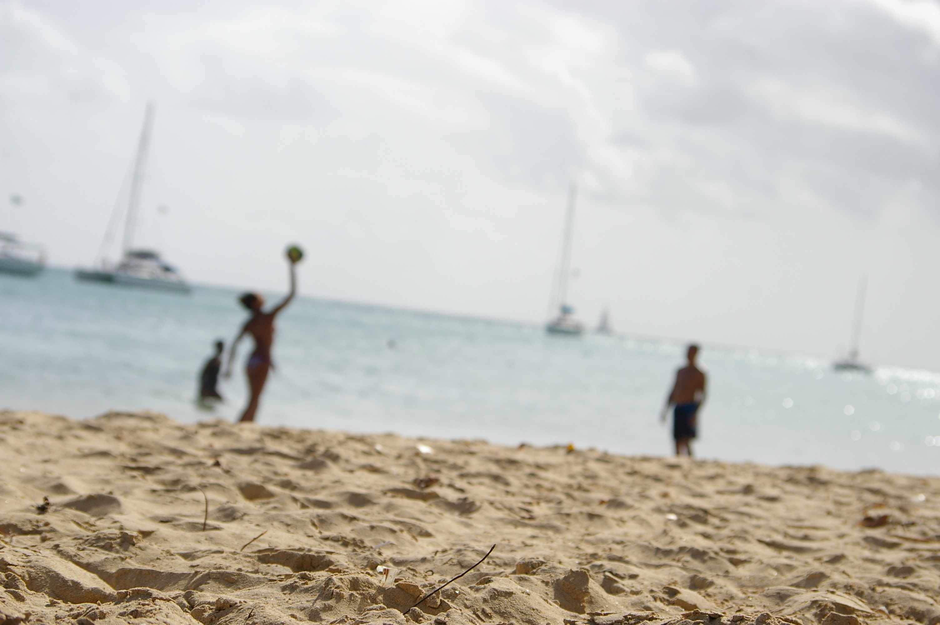Volleyball at the beach, Ball, Sand, Volley, Vacation, HQ Photo