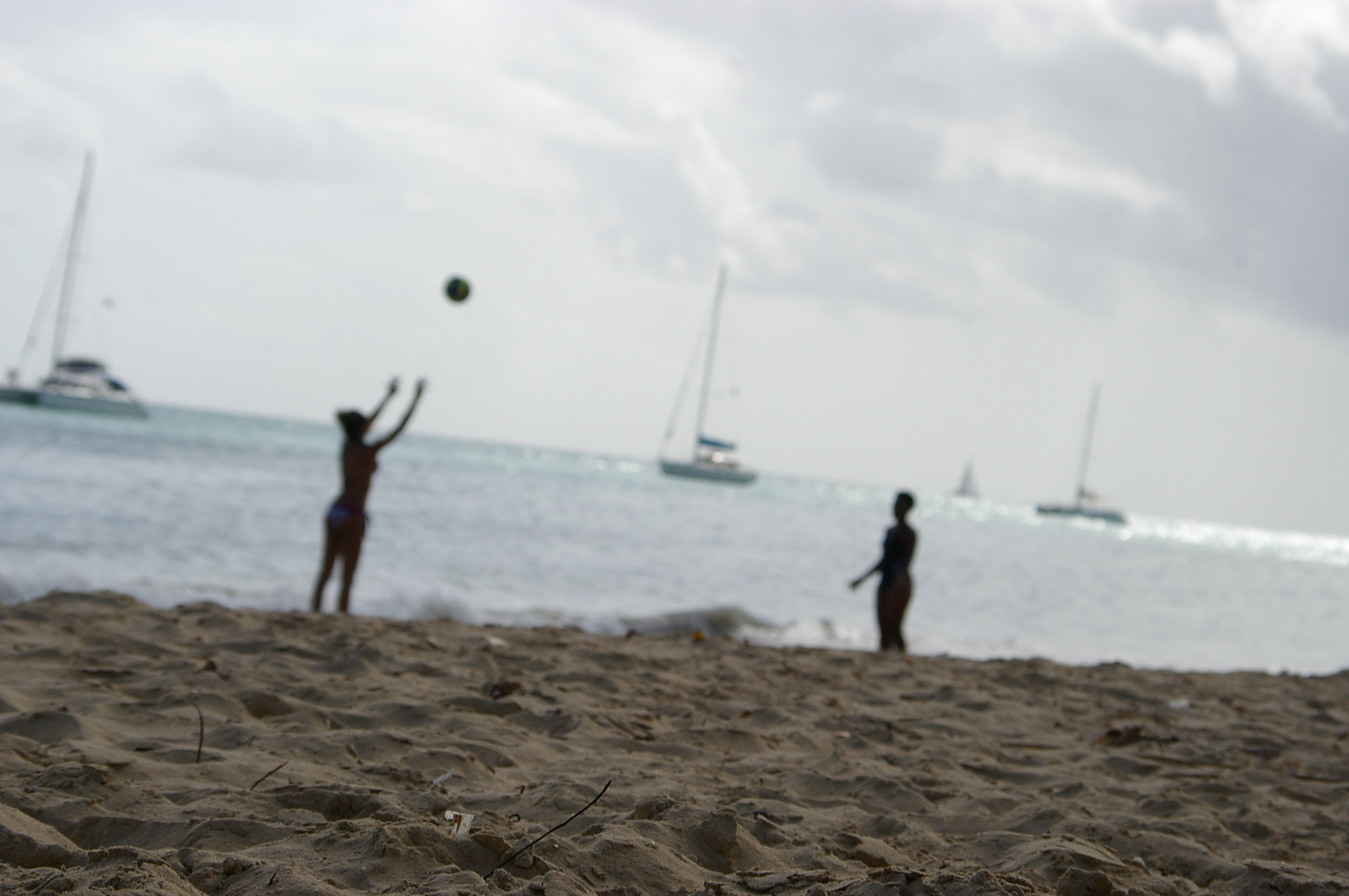 Volleyball at the beach photo
