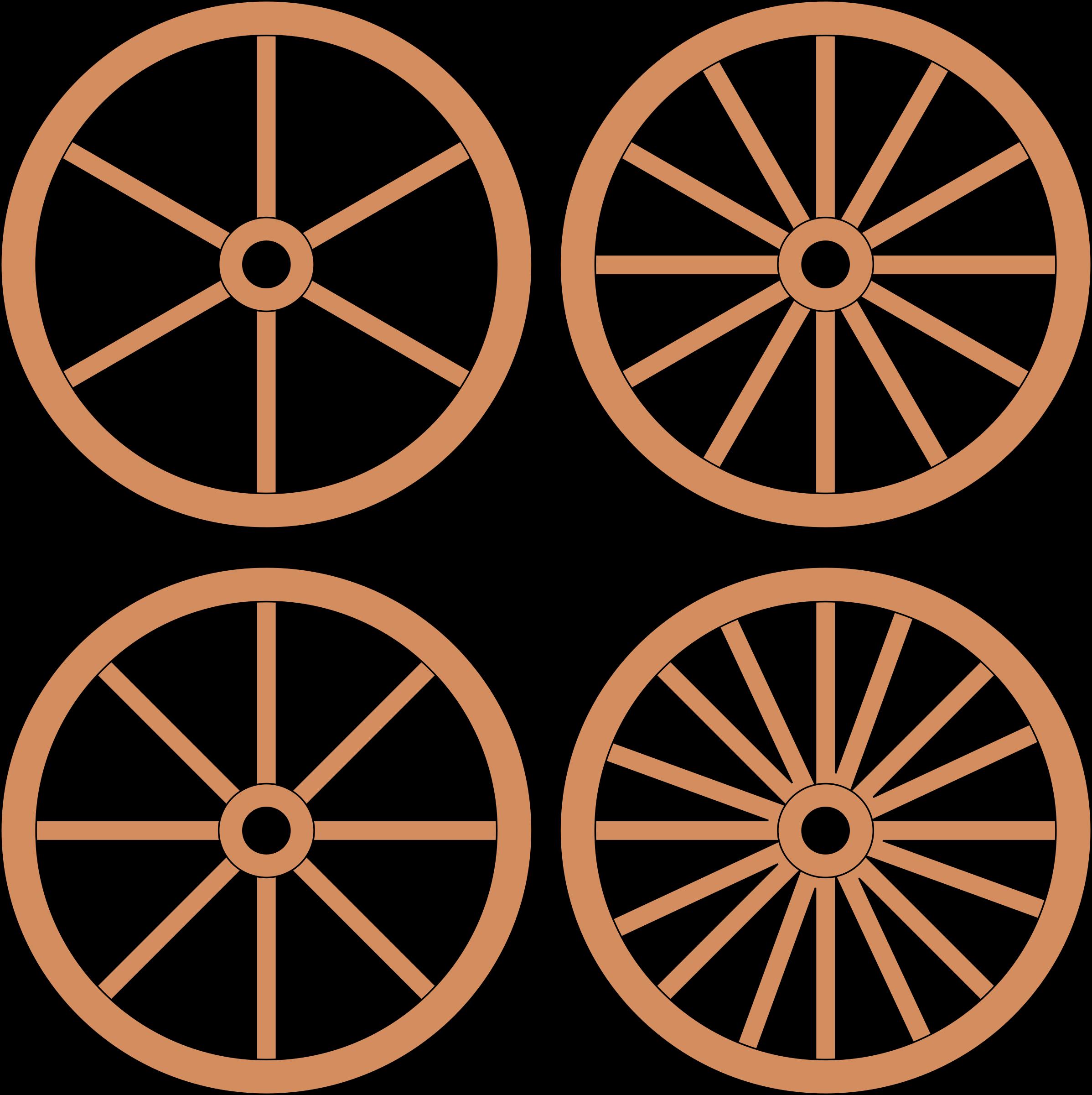 Clipart - Cart or Wagon Wheels