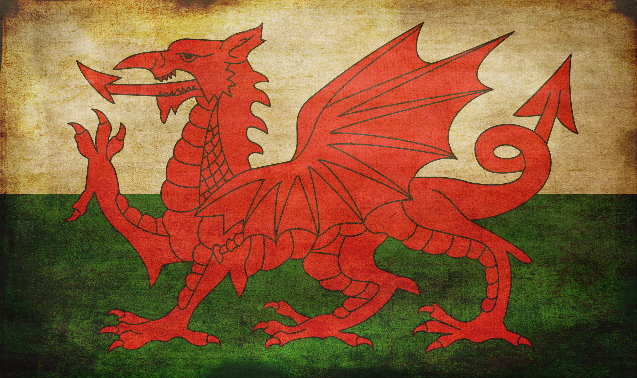 Wales - Grunge by tonemapped on DeviantArt