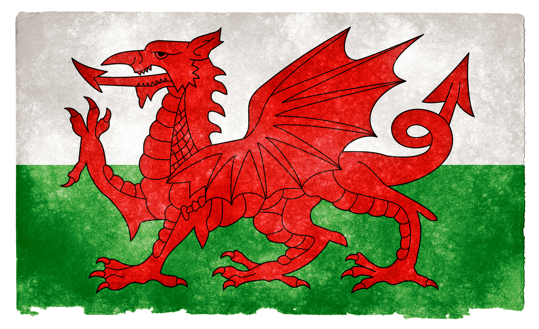 Wales Grunge Flag, Aged, Retro, National, Old, HQ Photo