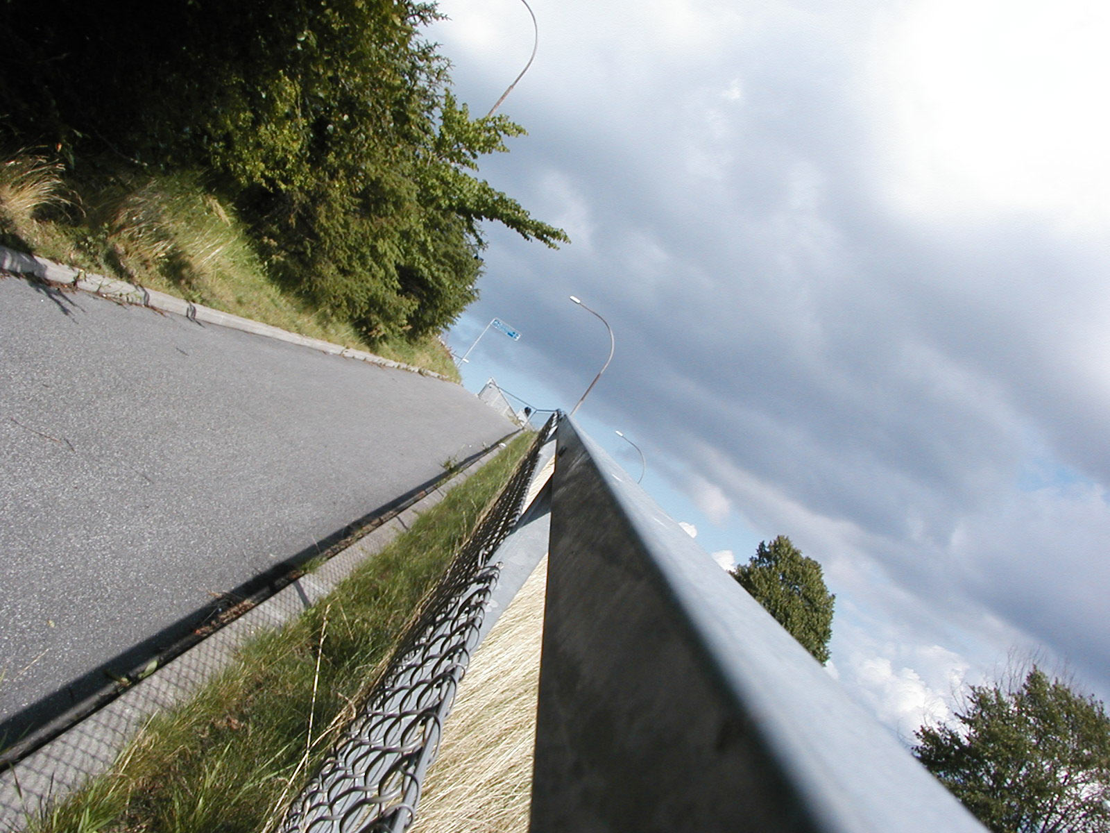 Asfalt walking path