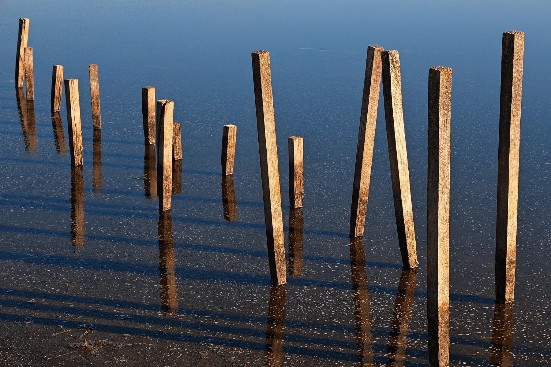 Walking water stilts - hdr photo