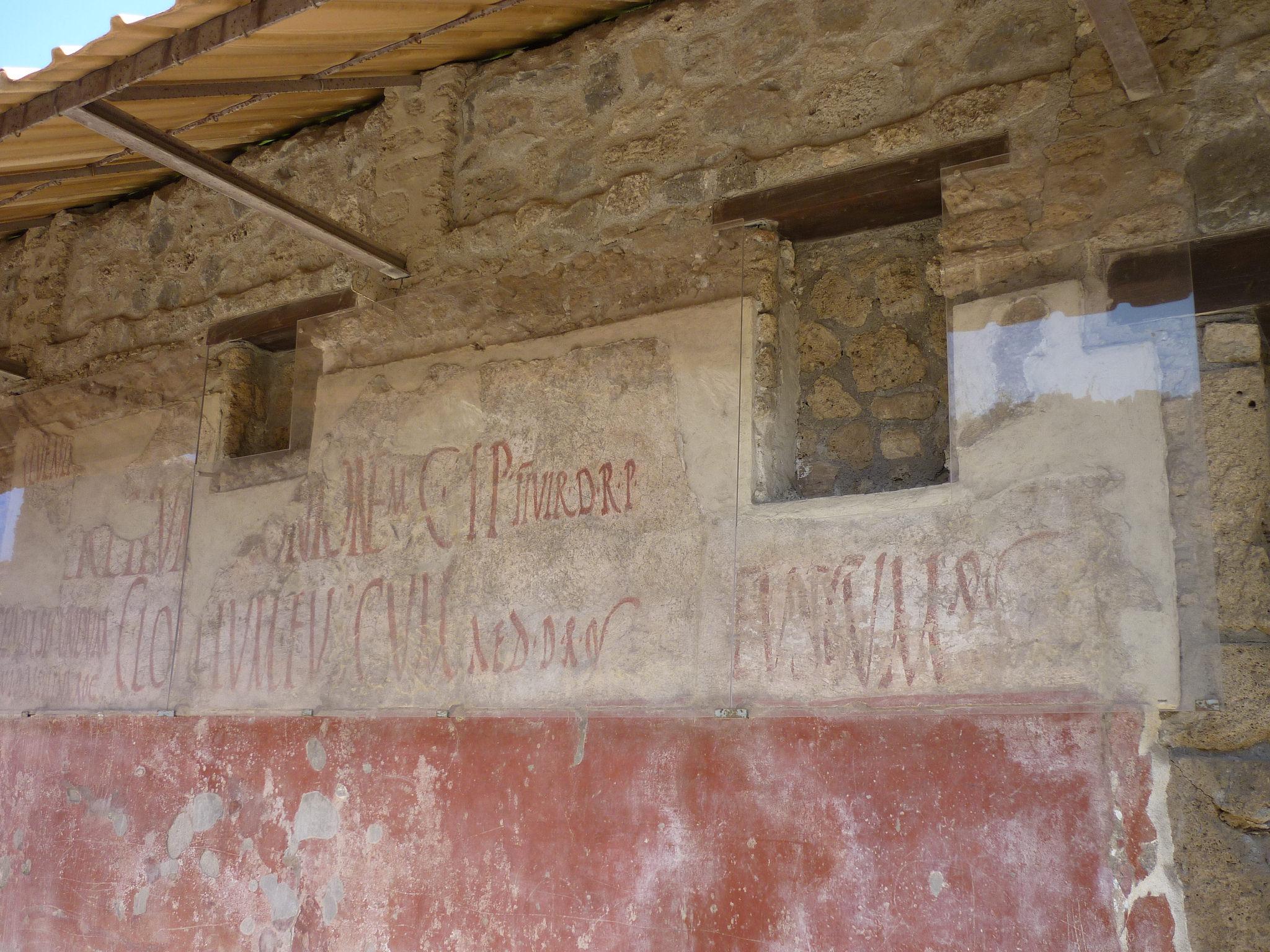 Pompeii: Graffiti, Signs & Electoral Notices (Article) - Ancient ...