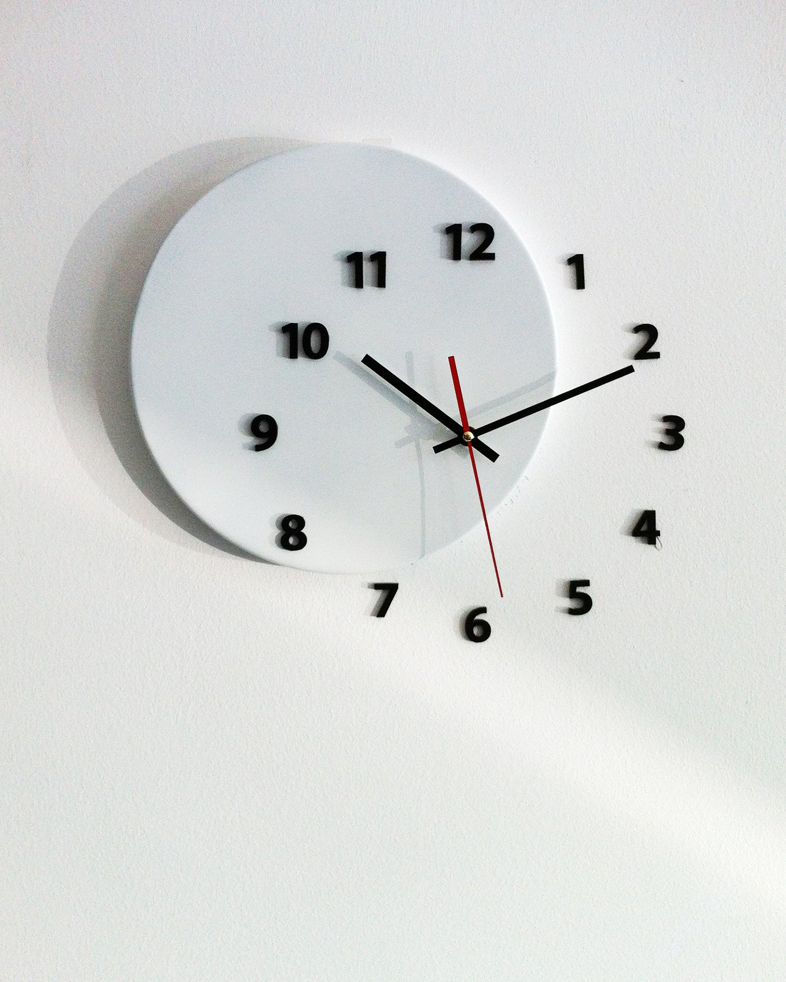 wall clock OUT OF TIME - light4dark