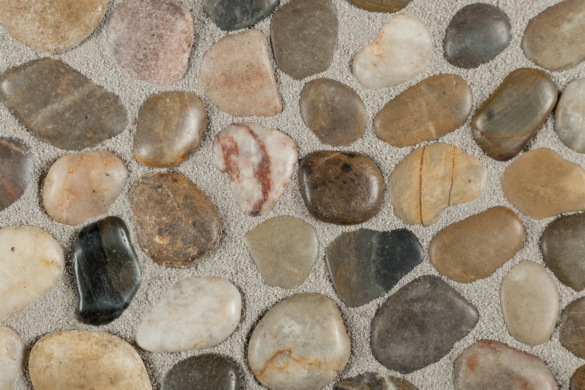 Optico Mosaic Tile - Tumbled Stone Series Garden Blend / Random