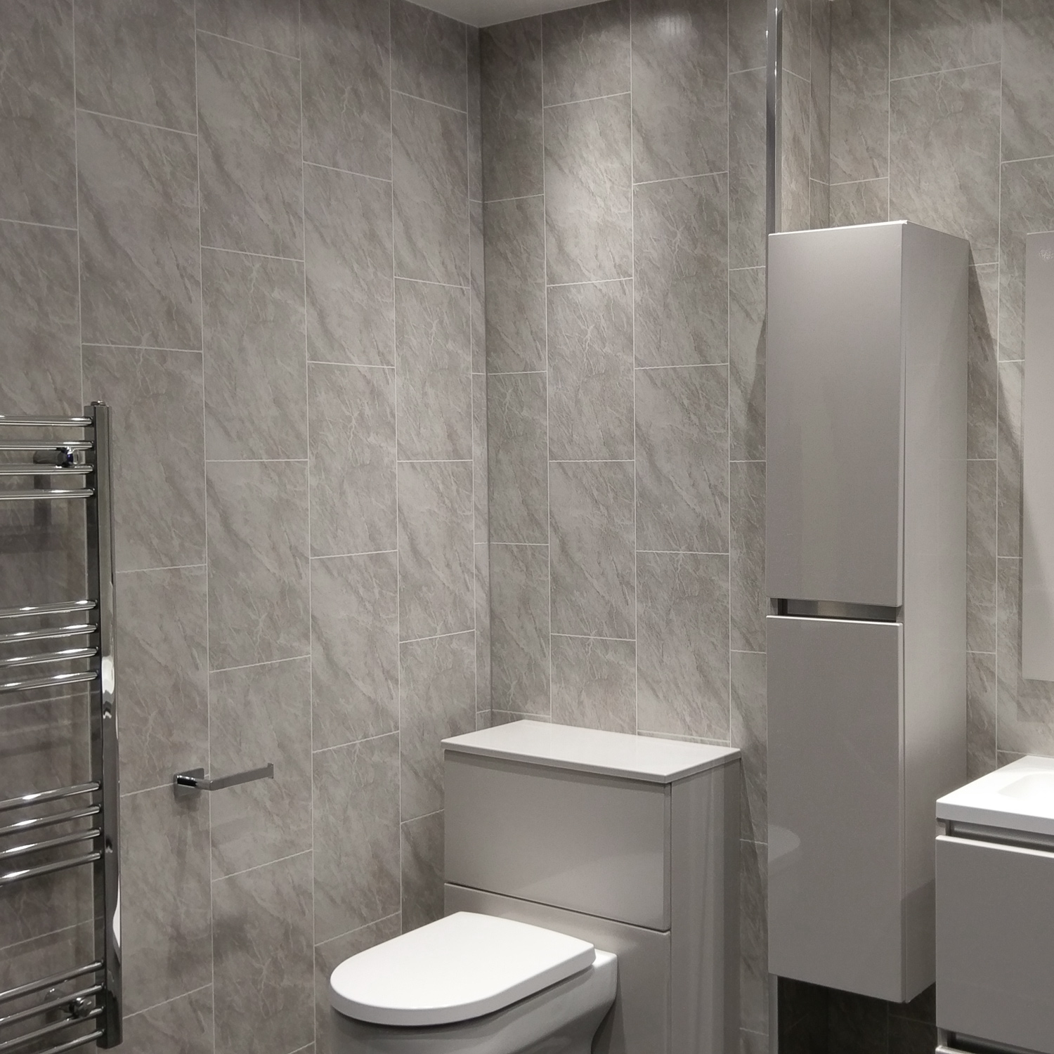 Grey Marble Tile Effect Wall Cladding Panels - Cladding Direct