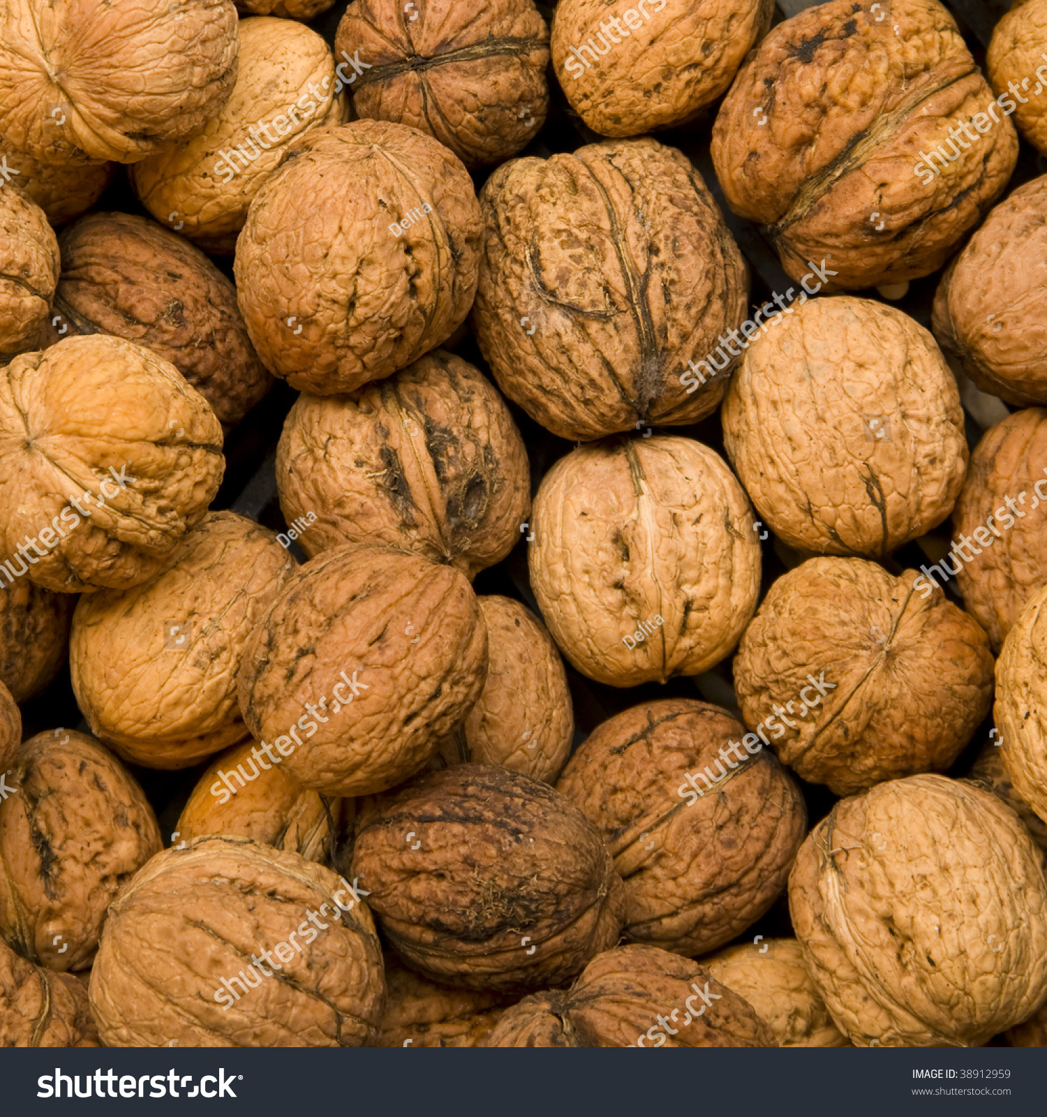 Wallnuts Background These Nuts Known Common Stock Photo 38912959 ...