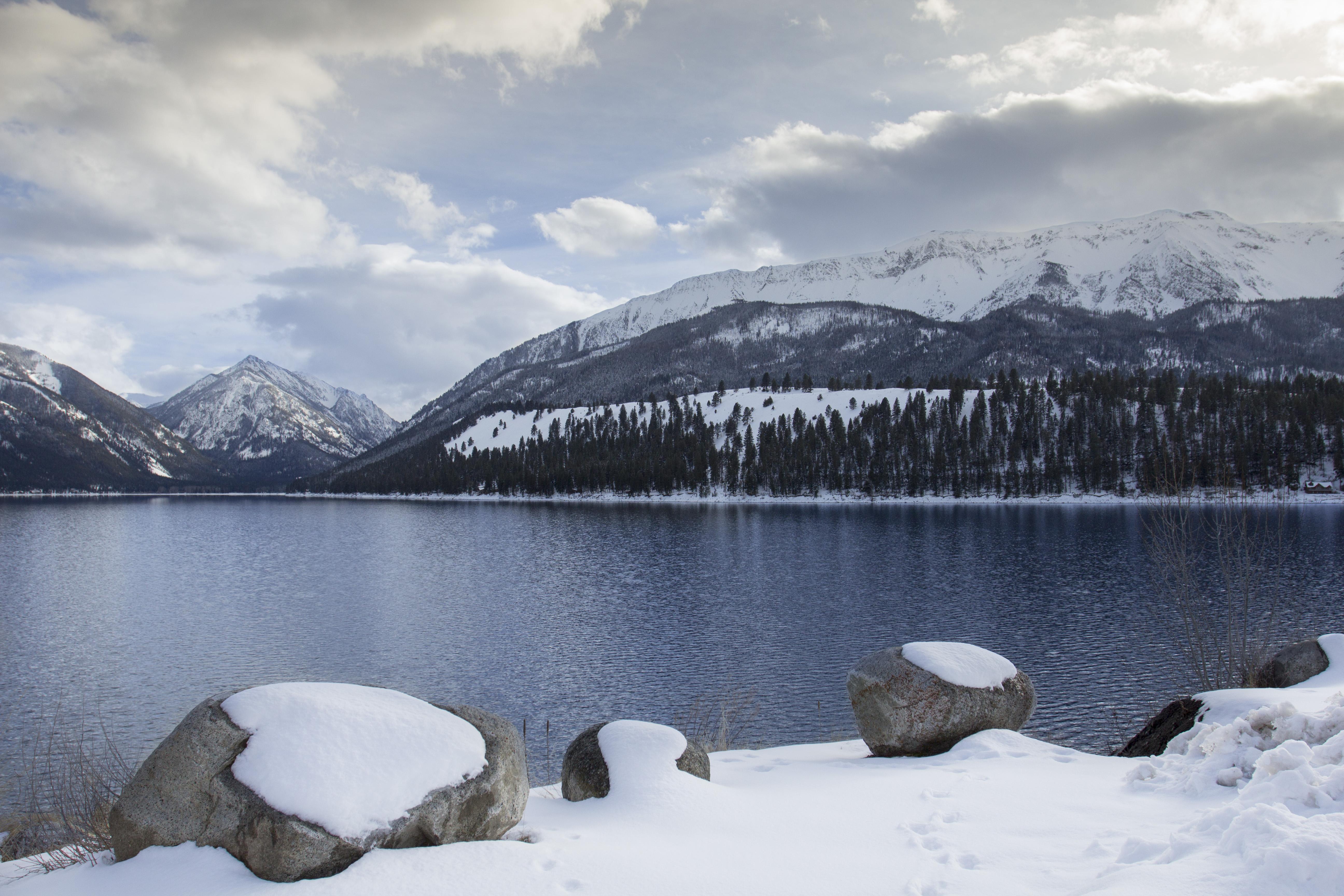 Wallowa lake winter, oregon photo