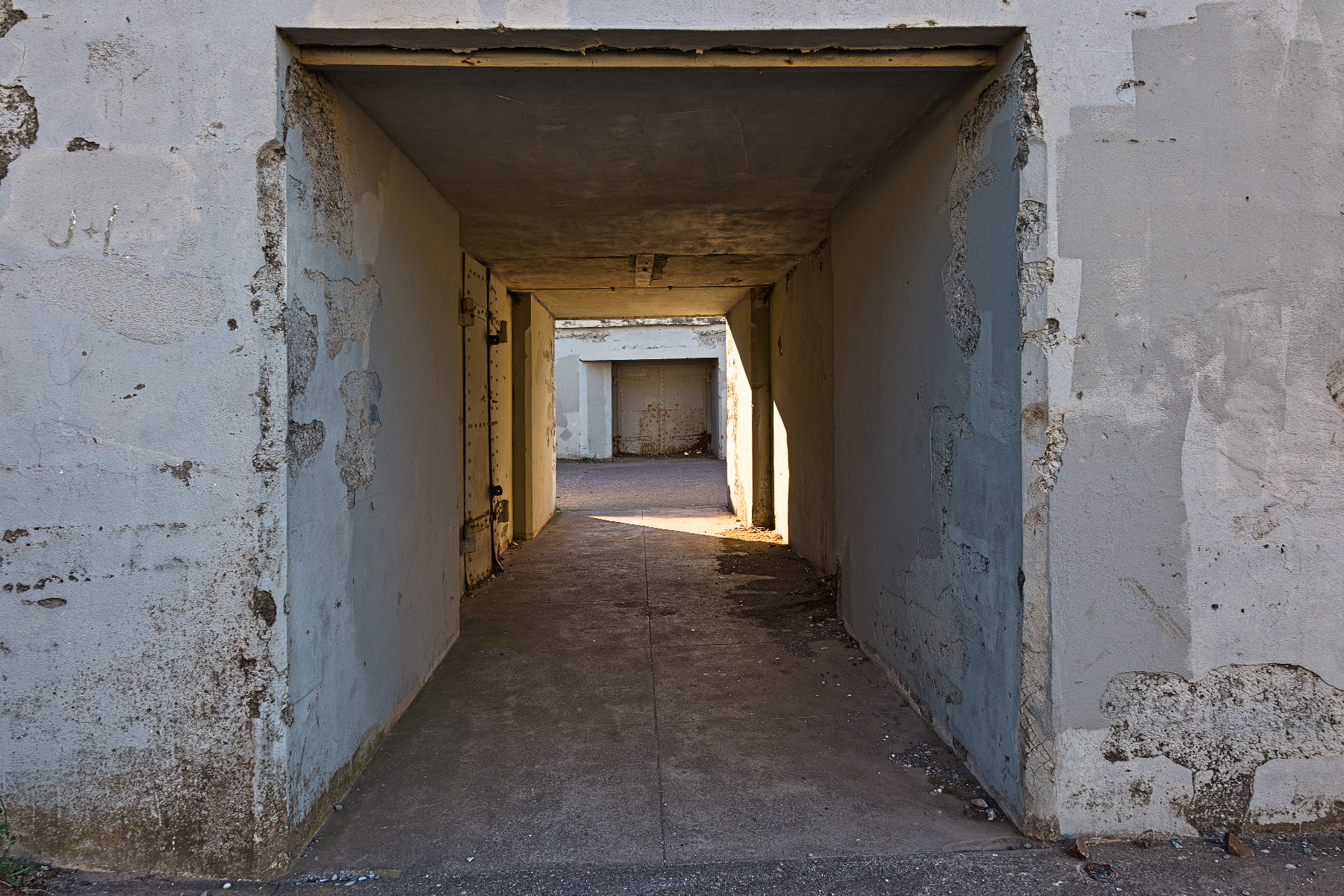 War Bunker Corridor - HDR, Age, Obscure, Resource, Range, HQ Photo