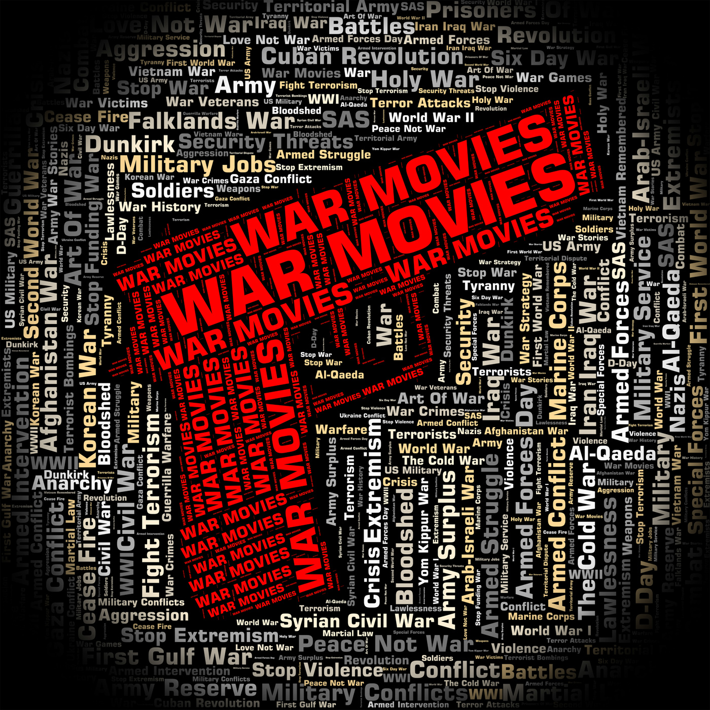 War movies represents military action and cinema photo