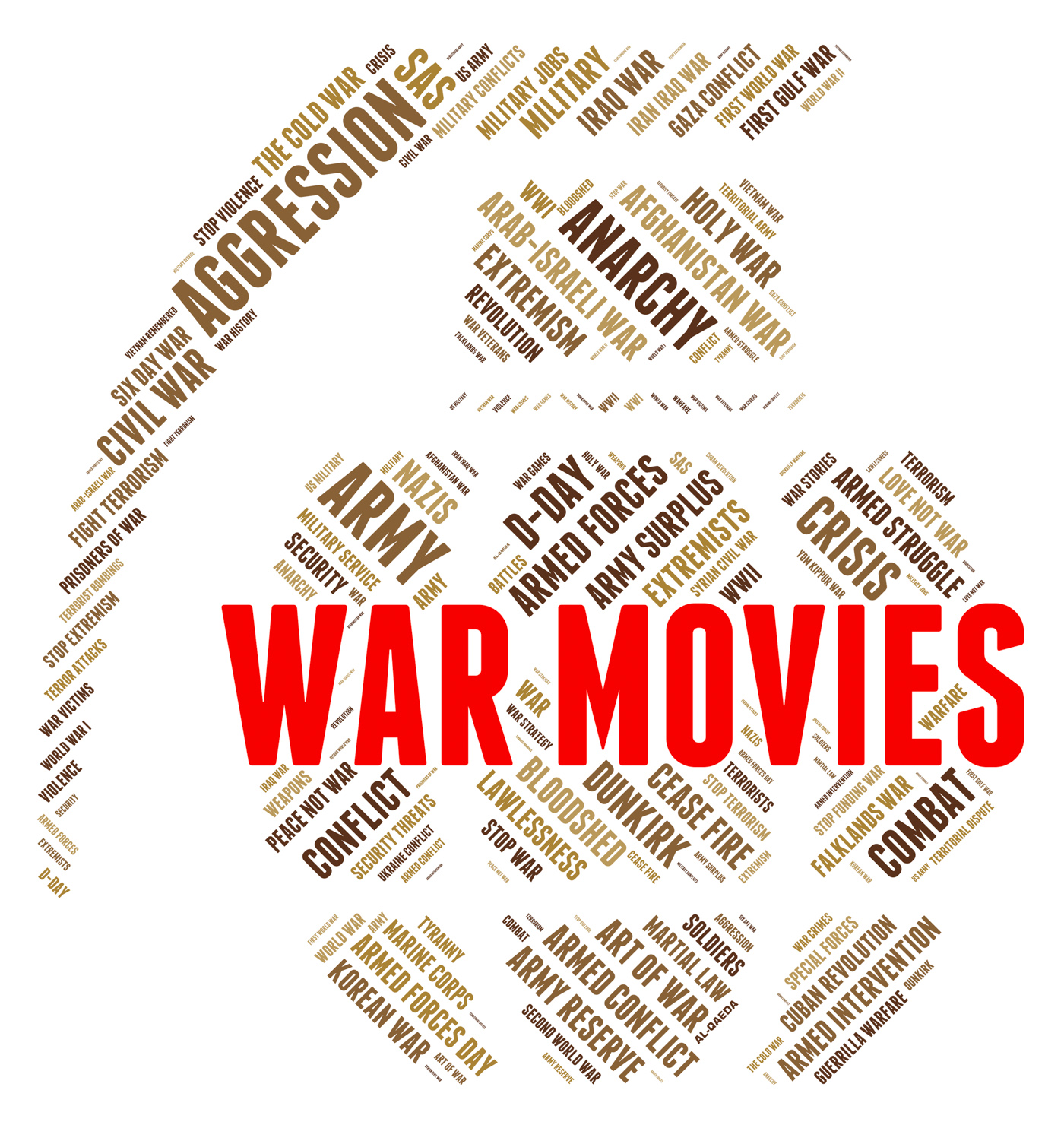 War movies shows military action and cinema photo