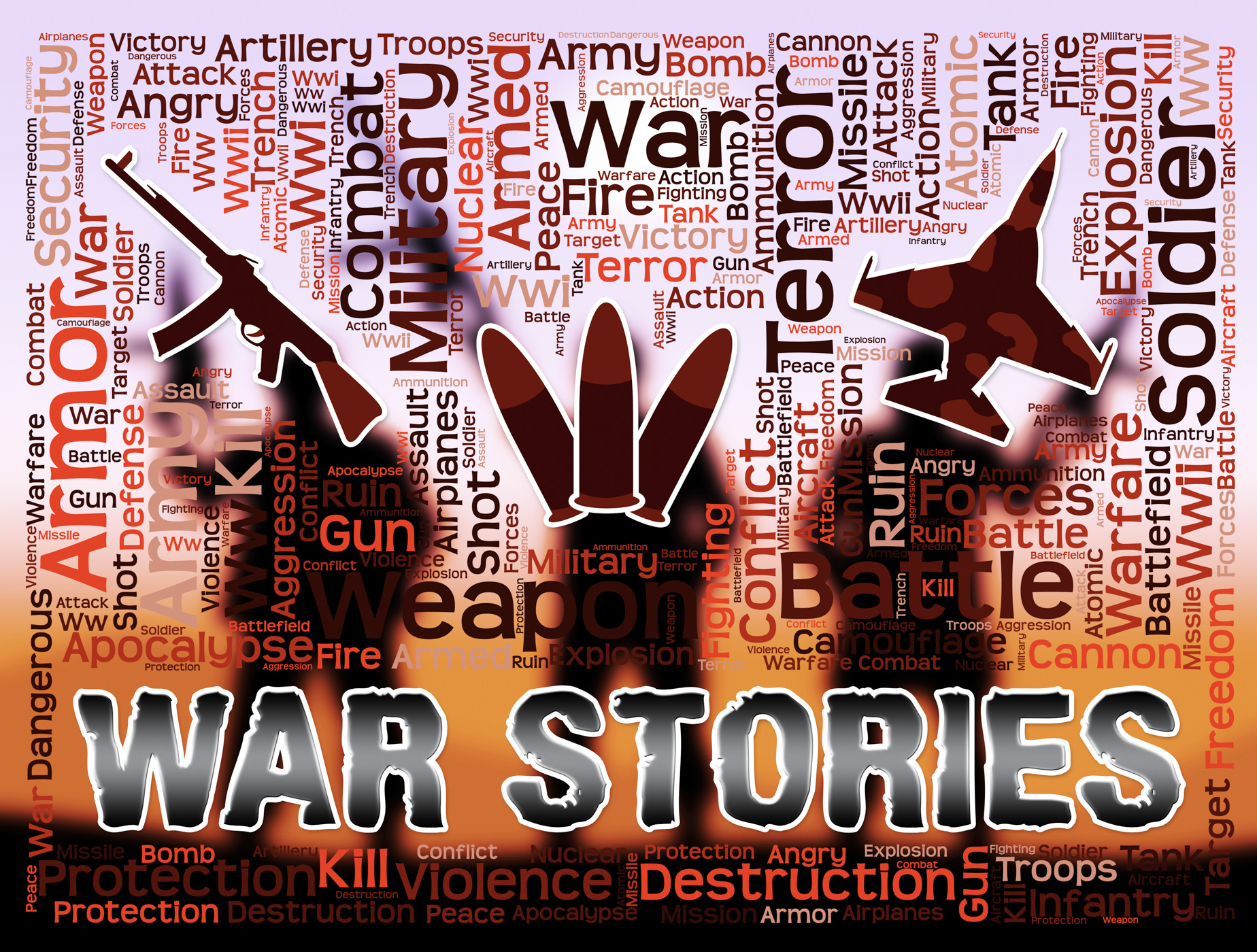 War stories means military action anecdotes and fiction photo