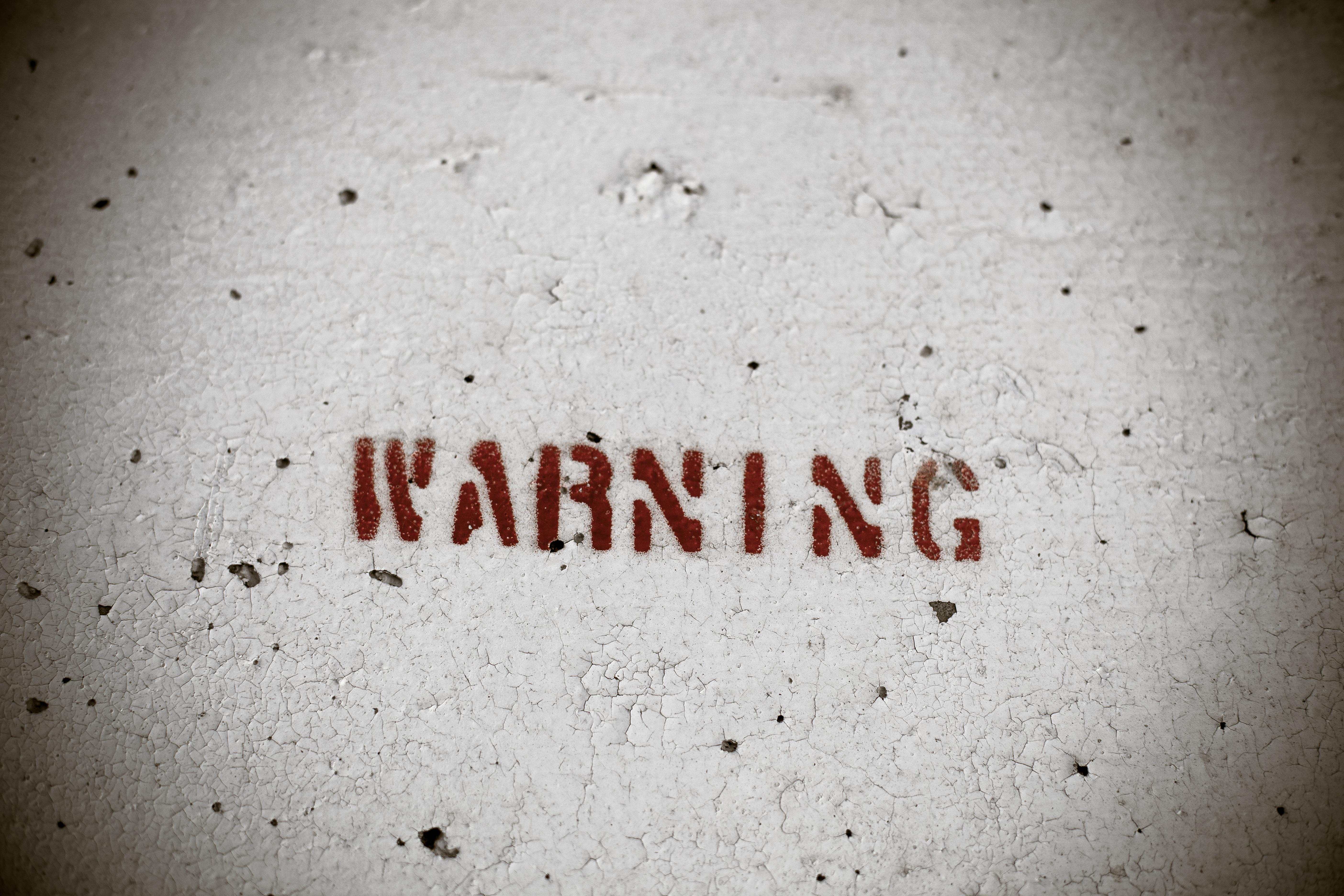 Warning - Peeling Wall Texture, Damaged, Grunge, Grungy, Old, HQ Photo
