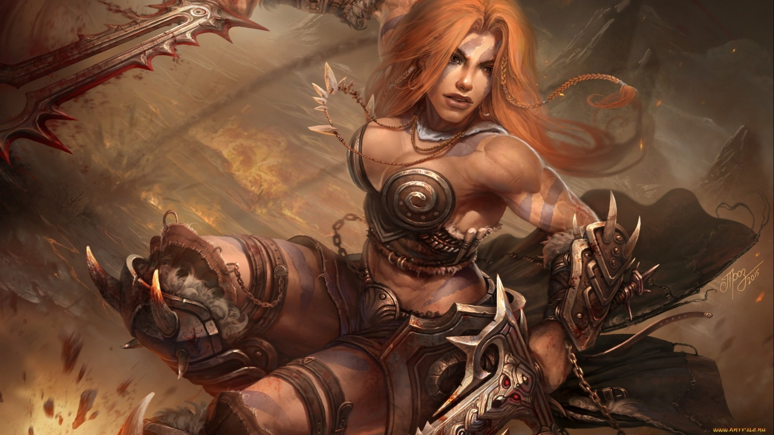 Fantasy artwork art warrior women woman female wallpaper | 2560x1440 ...