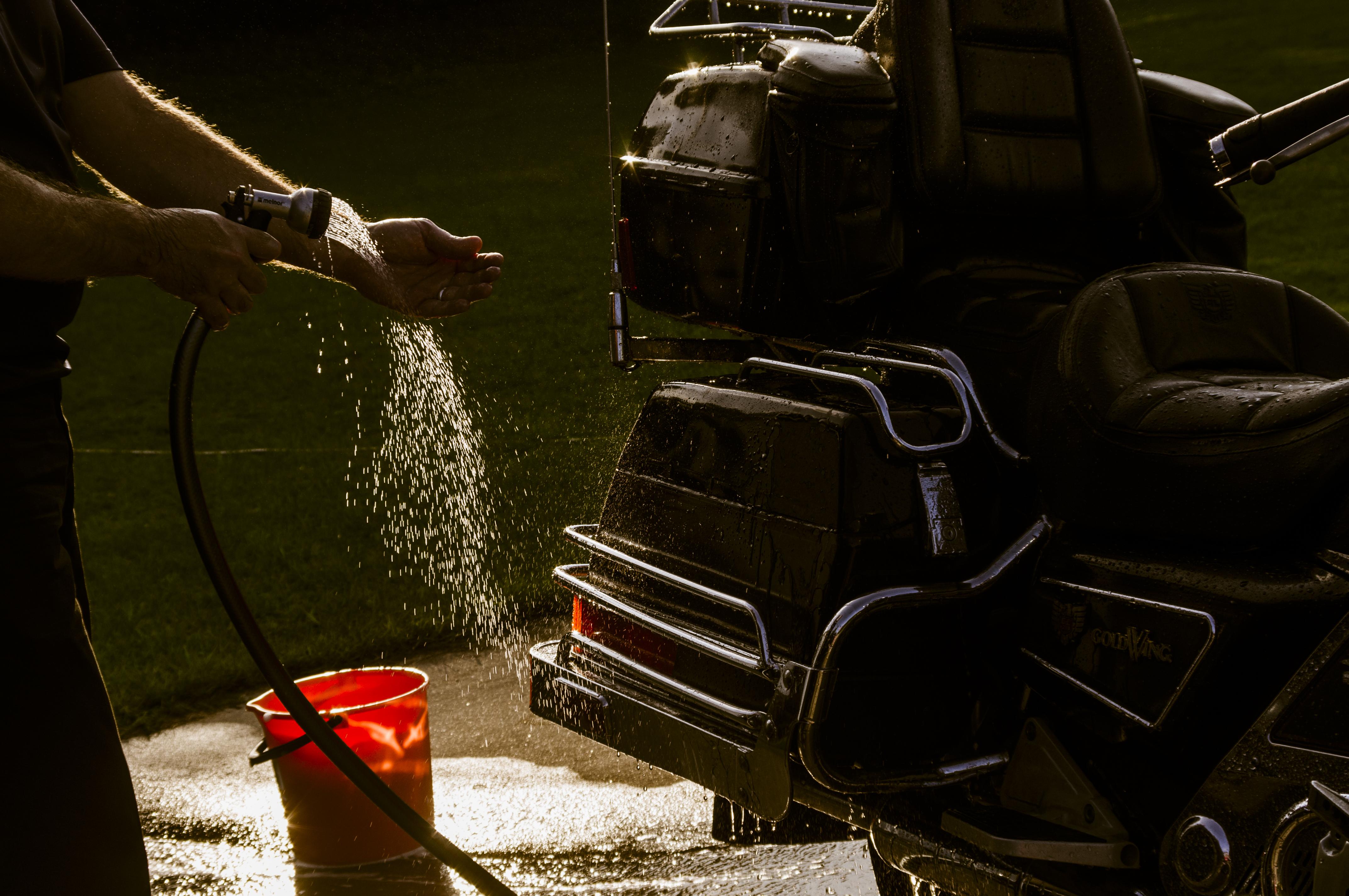 Wash The Motorcycle, Auto, Bike, Black, Bucket, HQ Photo