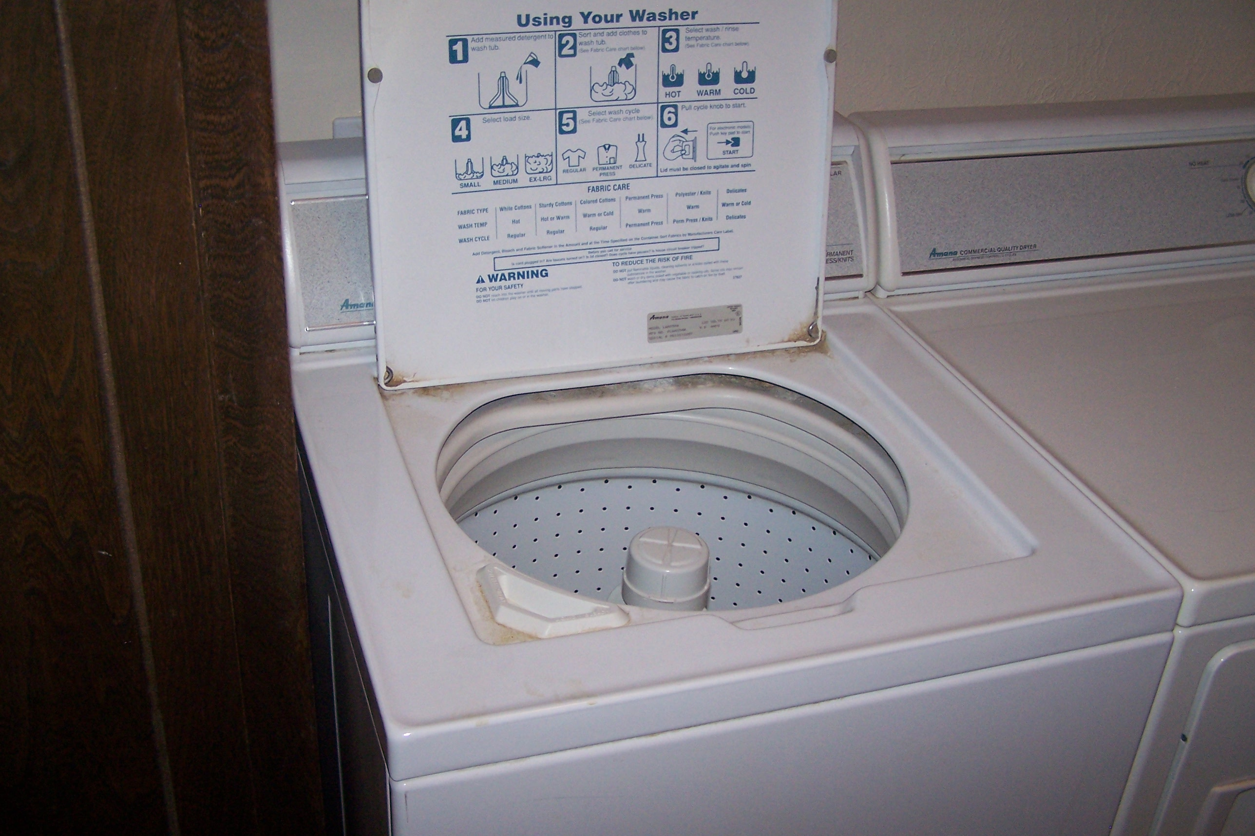 Washing machine open lid photo