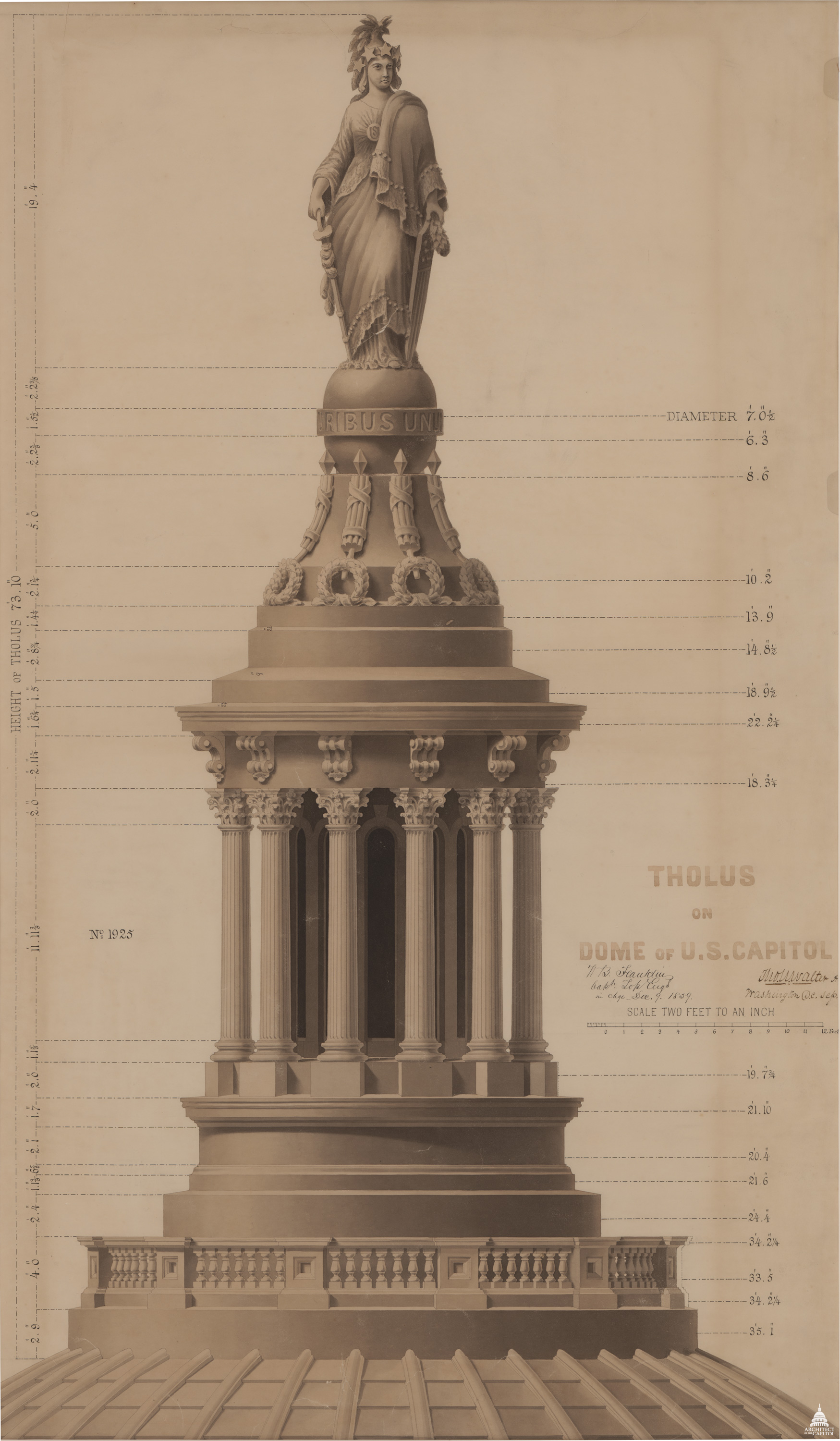 Philip Reid and the Statue of Freedom | Architect of the Capitol ...
