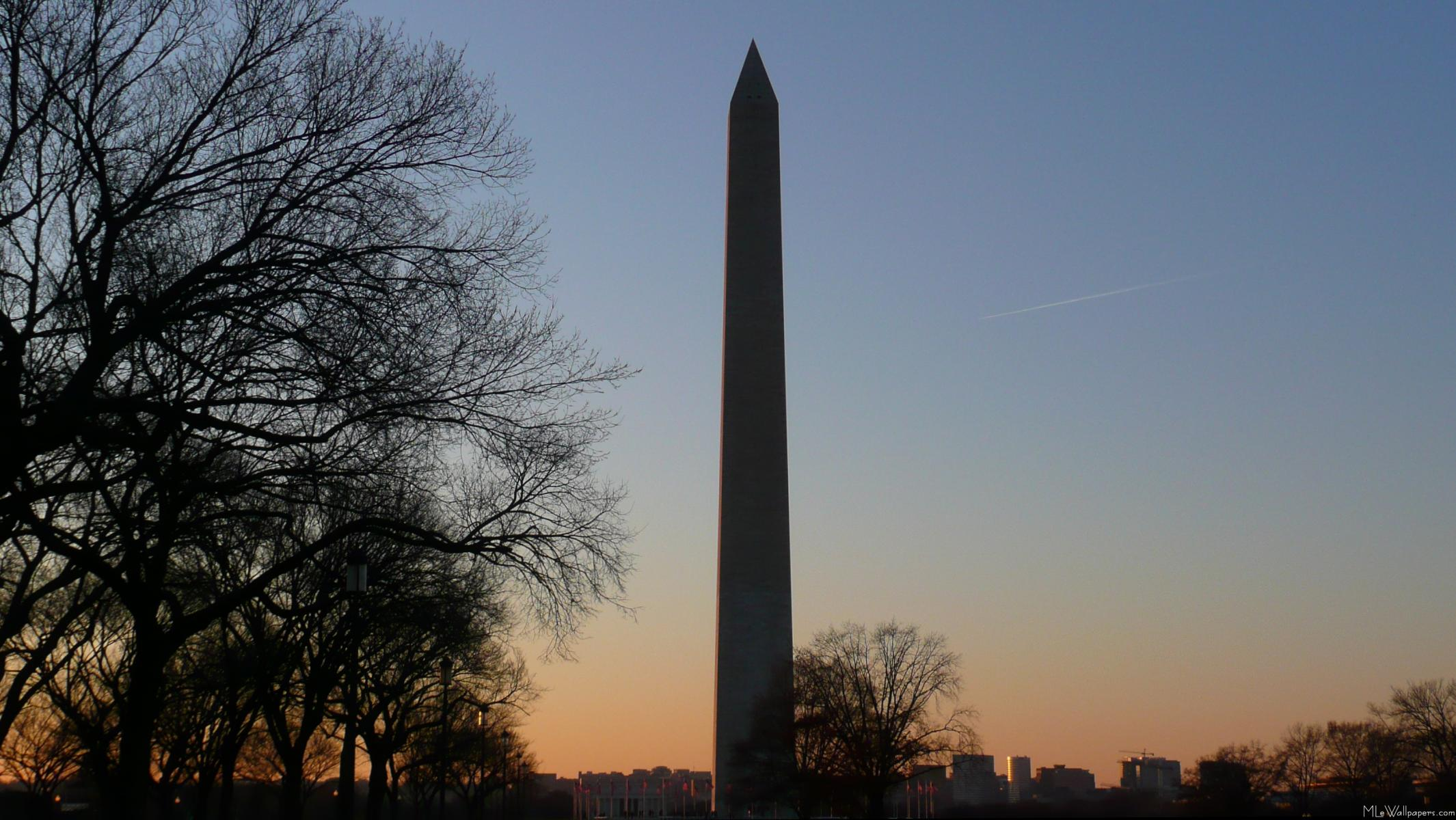 MLeWallpapers.com - Washington Monument at Sunset